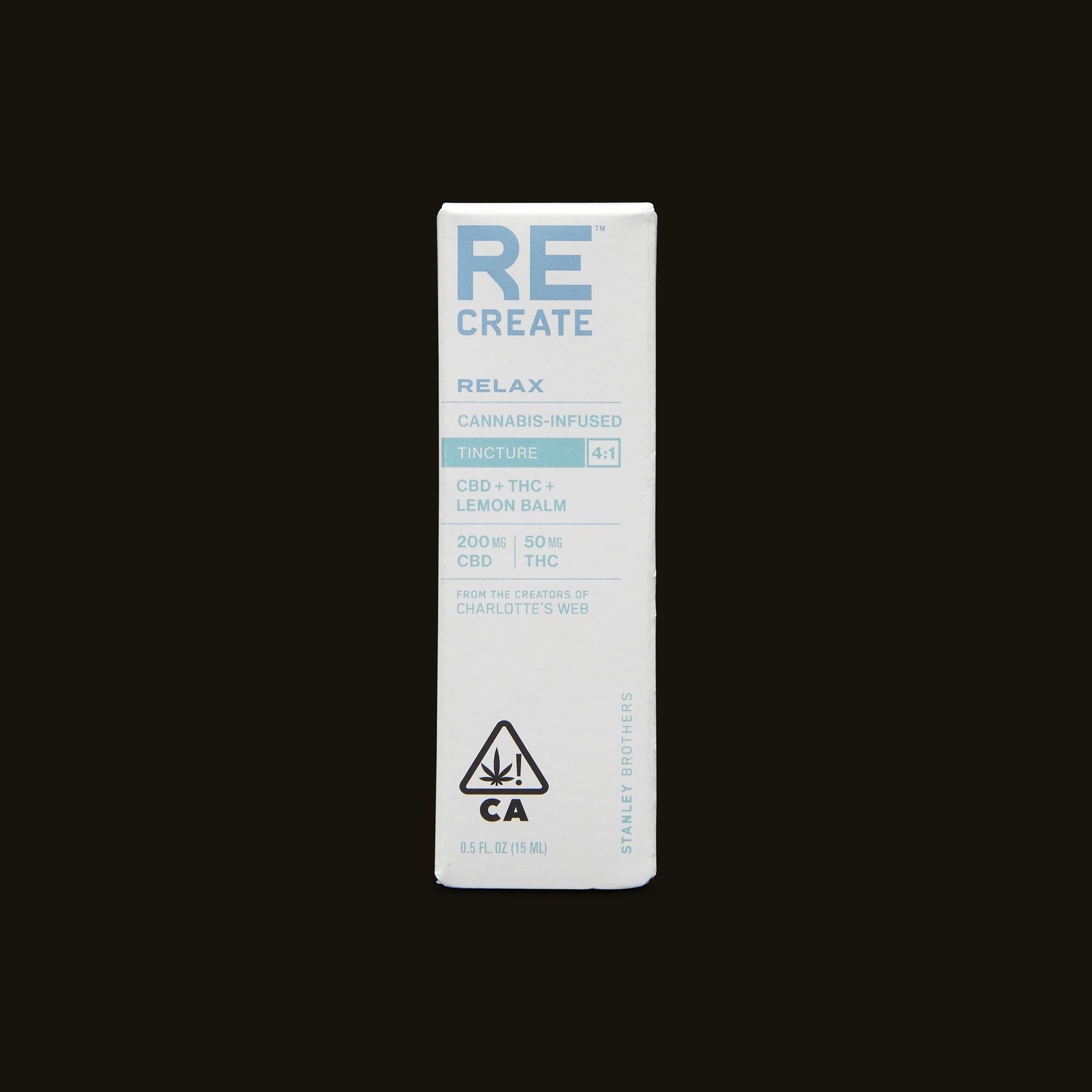 ReCreate Relax Tincture - 15ml Packaging