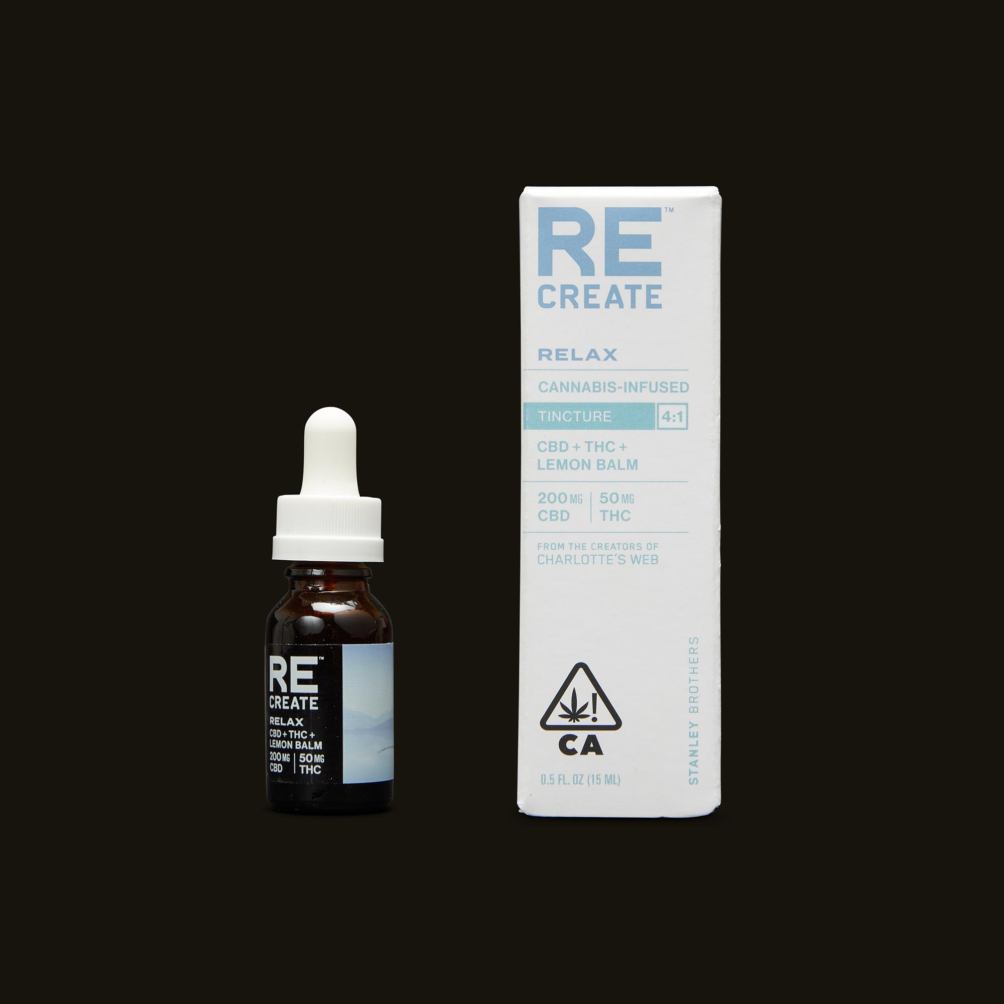 ReCreate Relax Tincture - 15ml Tincture and Packaging