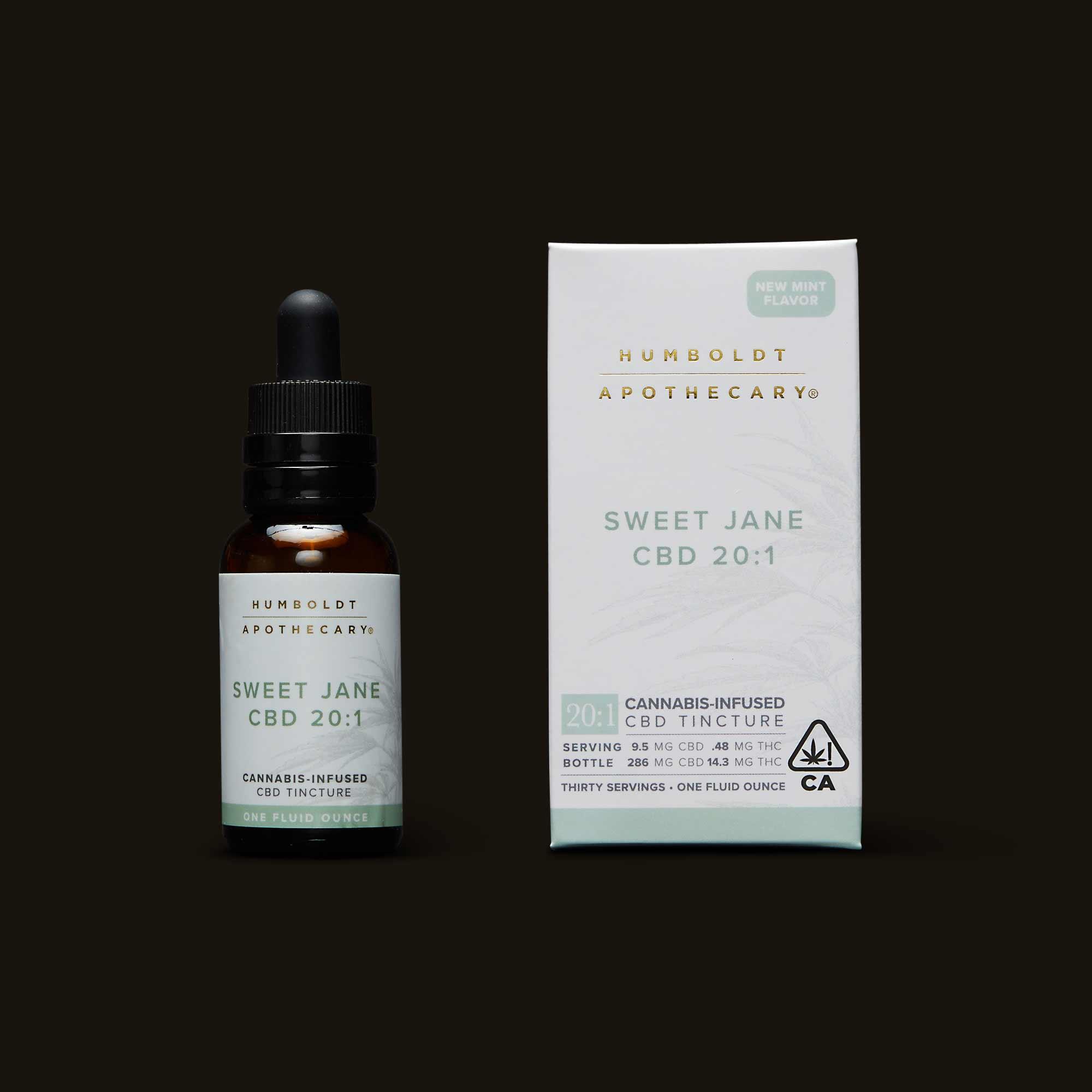 Sweet Jane CBD 20:1 - One 15ml bottle (11.9mg THC, 238.1mg CBD)