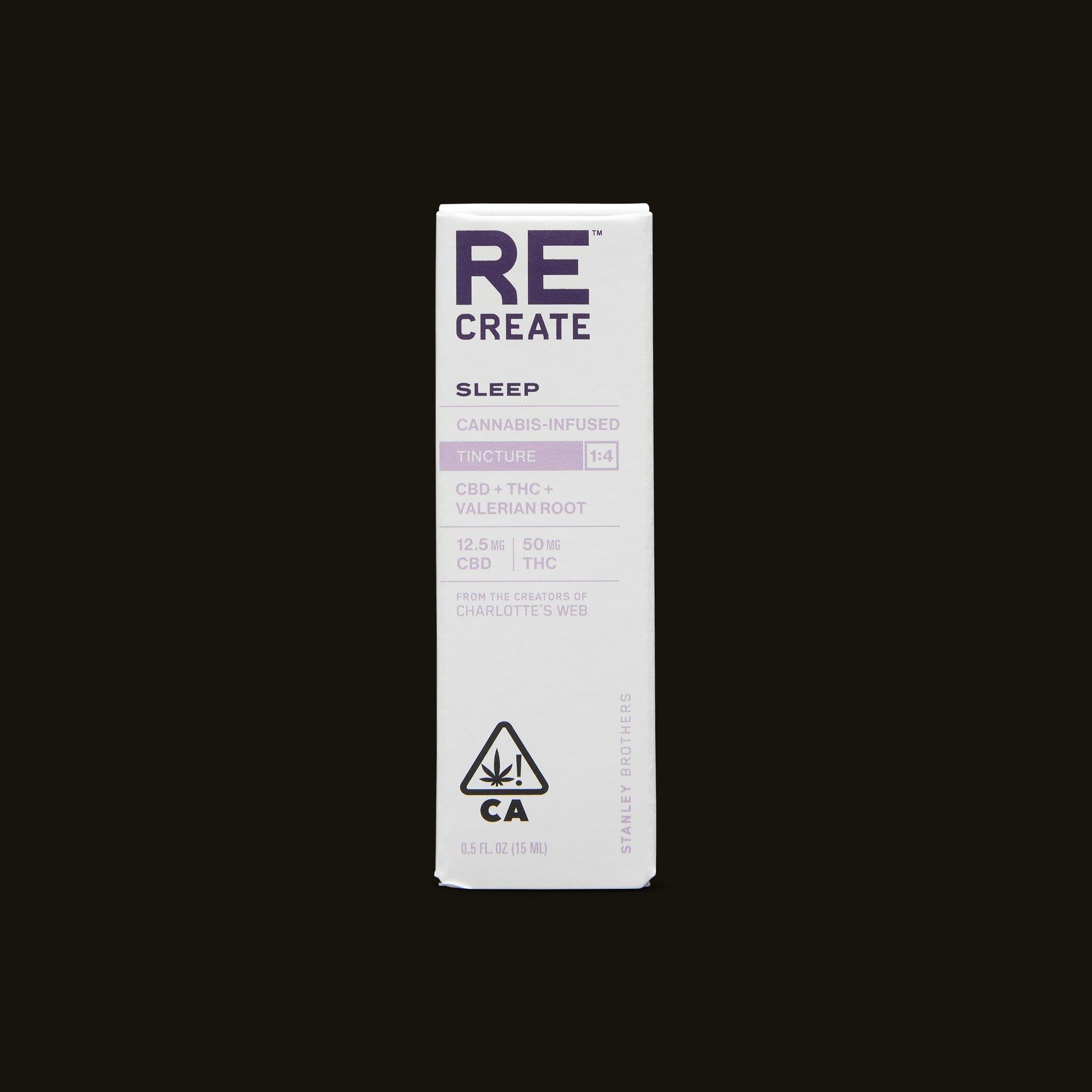 ReCreate Sleep Tincture - 15ml Front Packaging