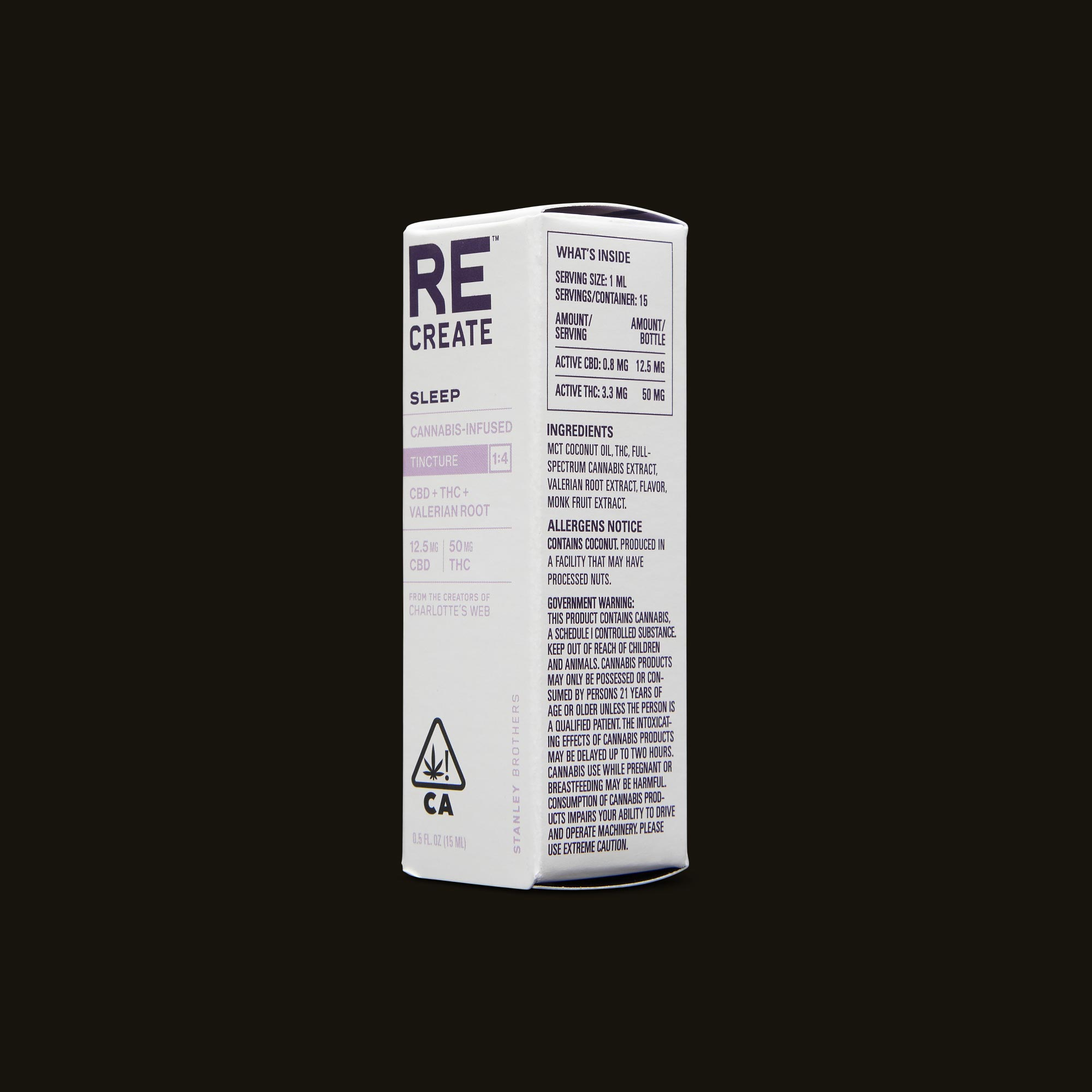 ReCreate Sleep Tincture - 15ml Ingredients