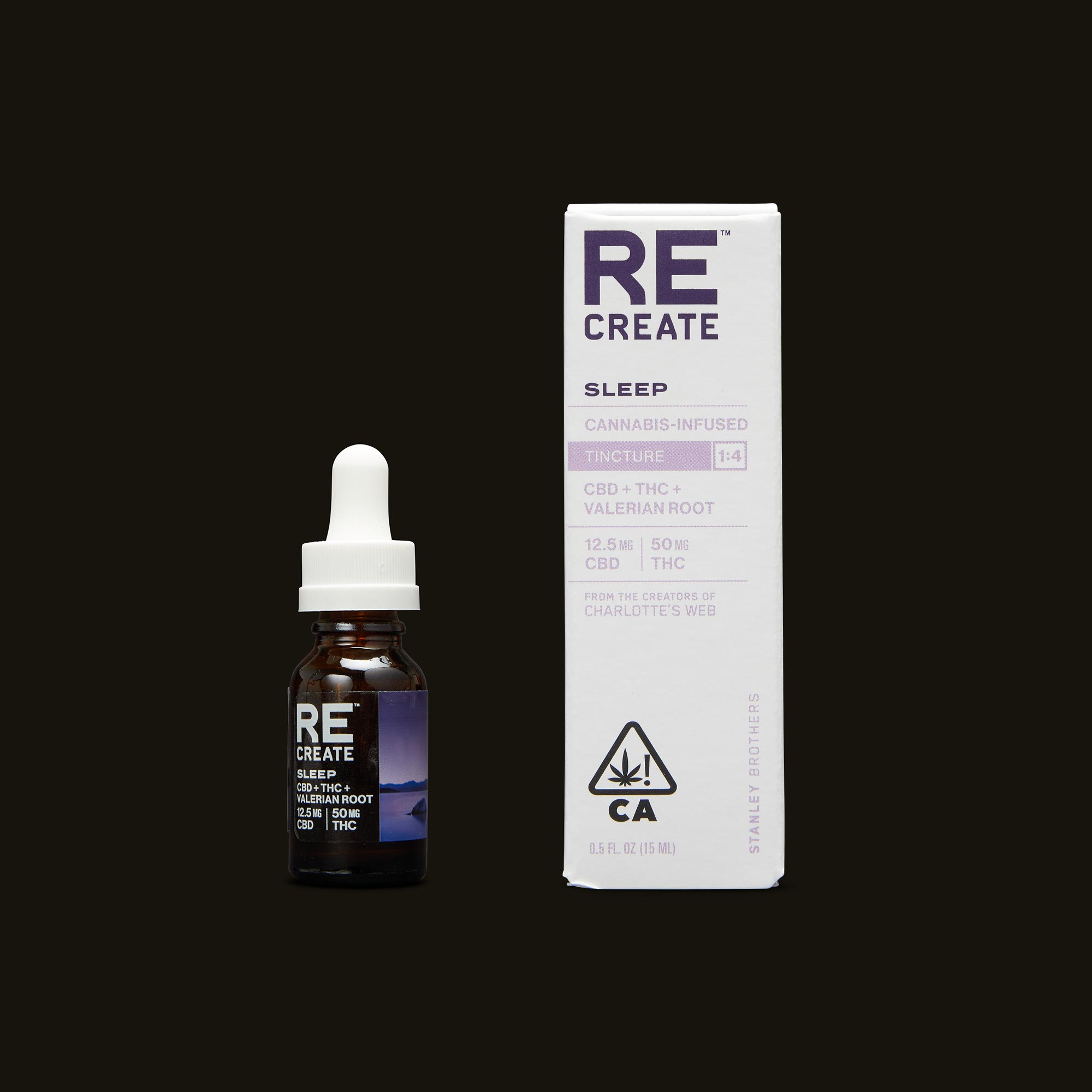 ReCreate Sleep Tincture - 15ml Tincture and Packaging