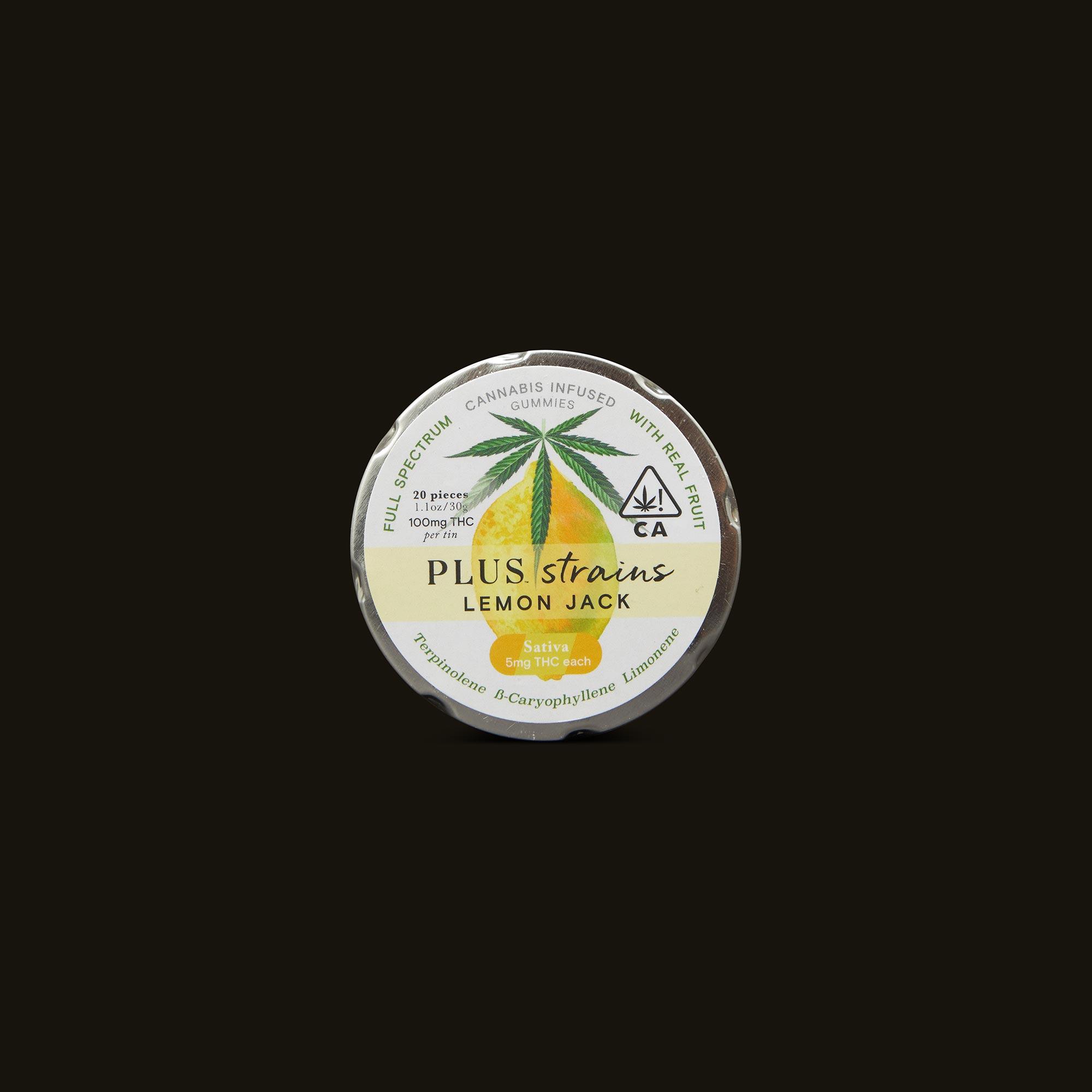 Plus Lemon Jack Strains Gummies Front Packaging