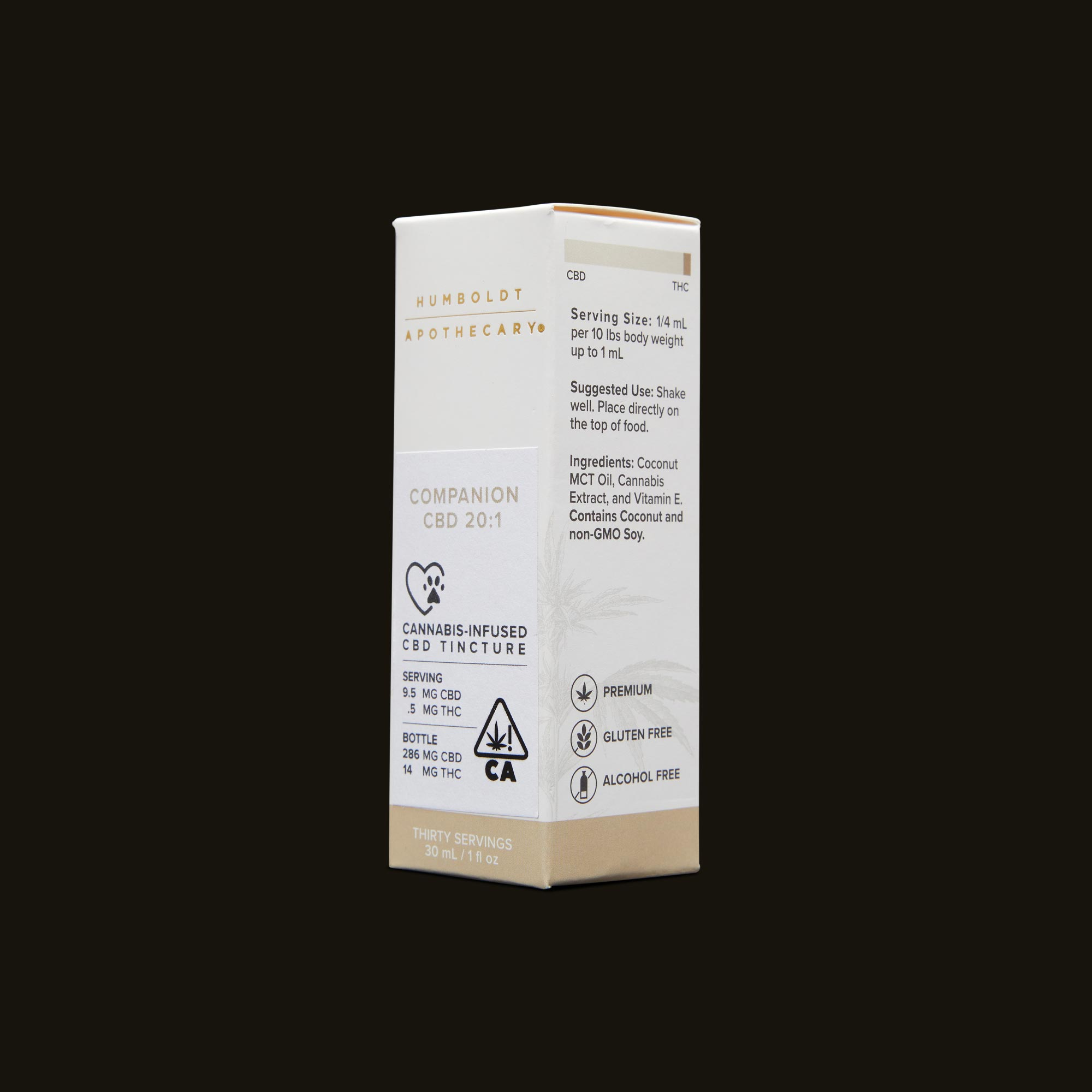 Humboldt Apothecary Pet CBD 20:1 Ingredients