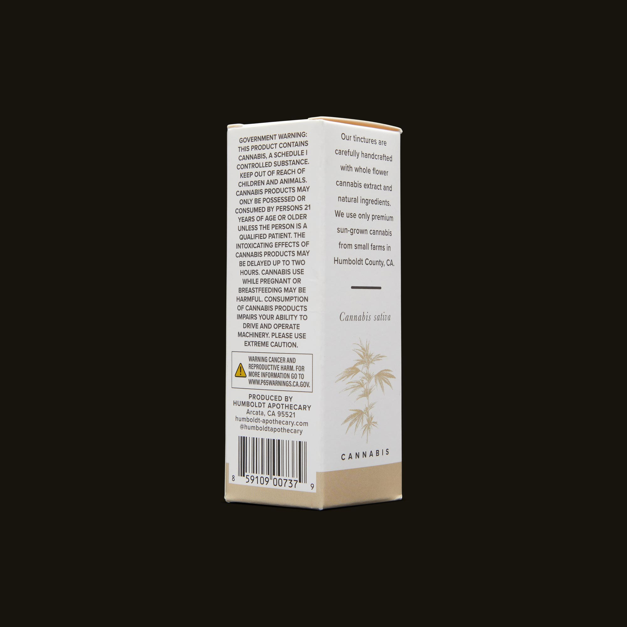 Humboldt Apothecary Pet CBD 20:1 Back Packaging