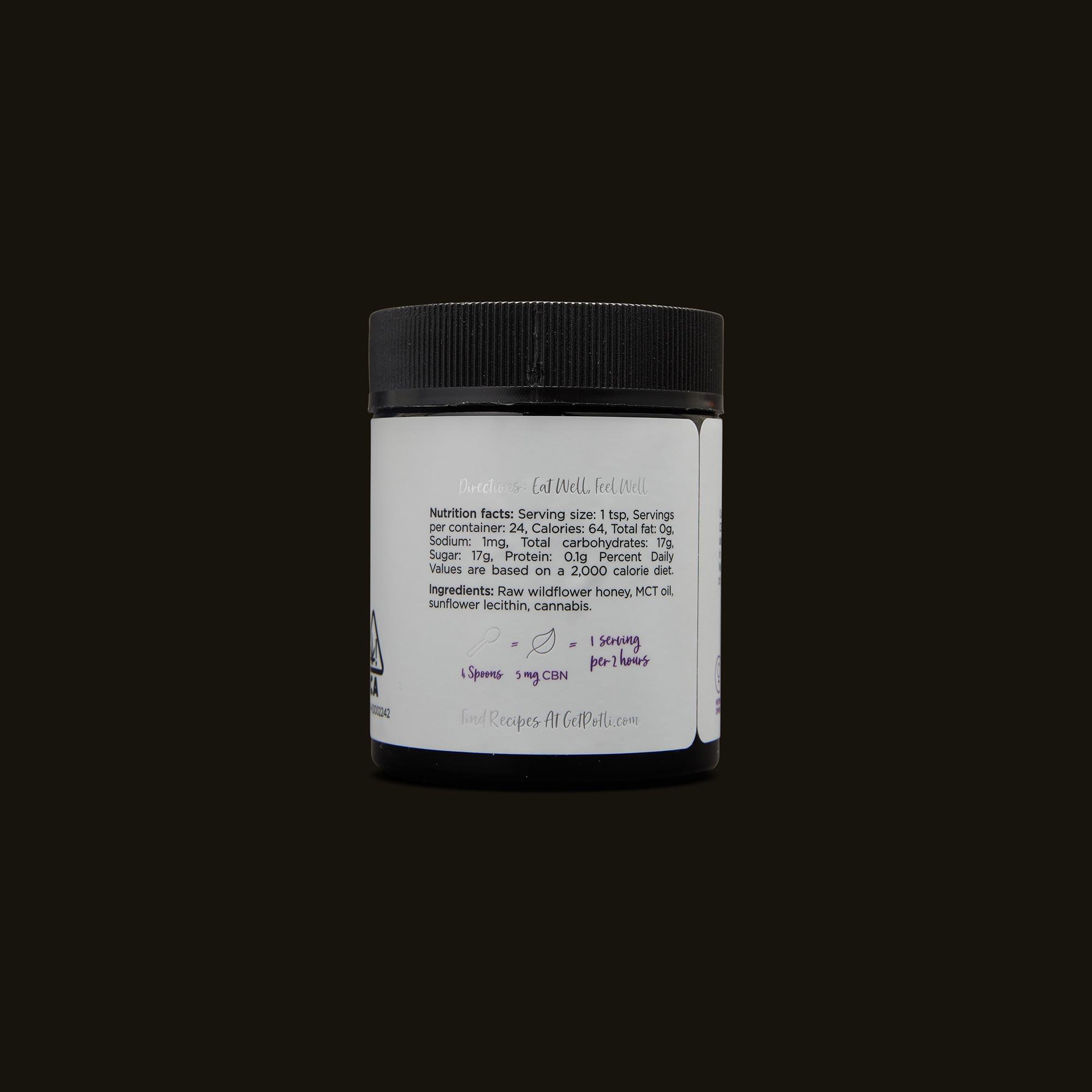 Potli Infused Dream Honey Ingredients