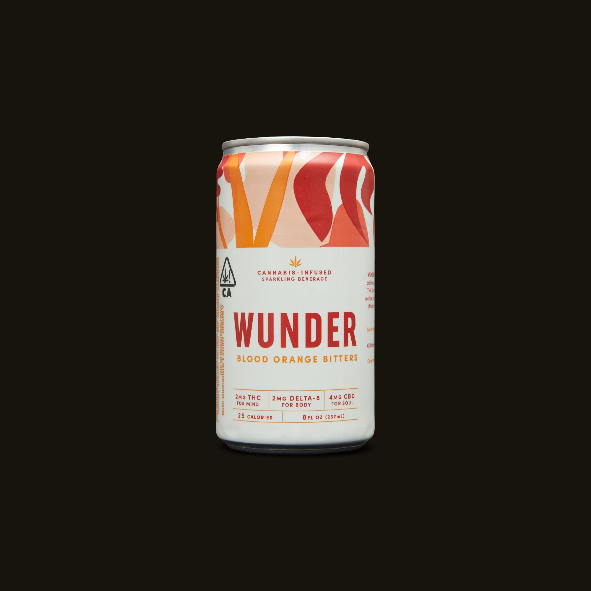 Wunder Blood Orange Bliss Bitters Front Can