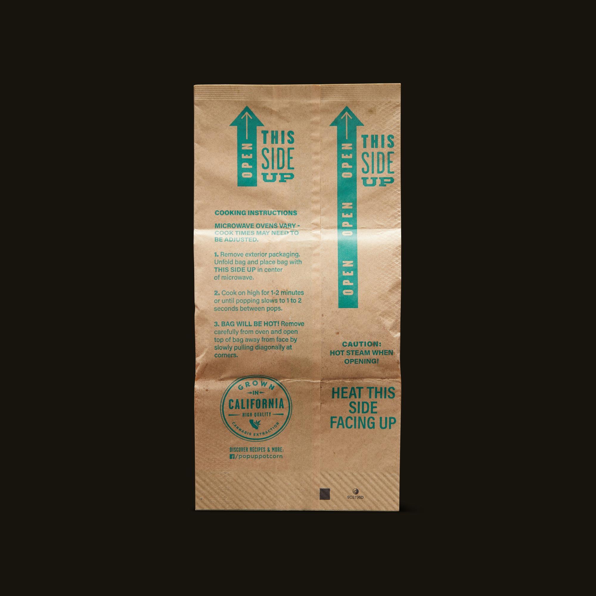 Pop-Up Potcorn Sea Salt Popcorn 10:1 3-Pack Instructions