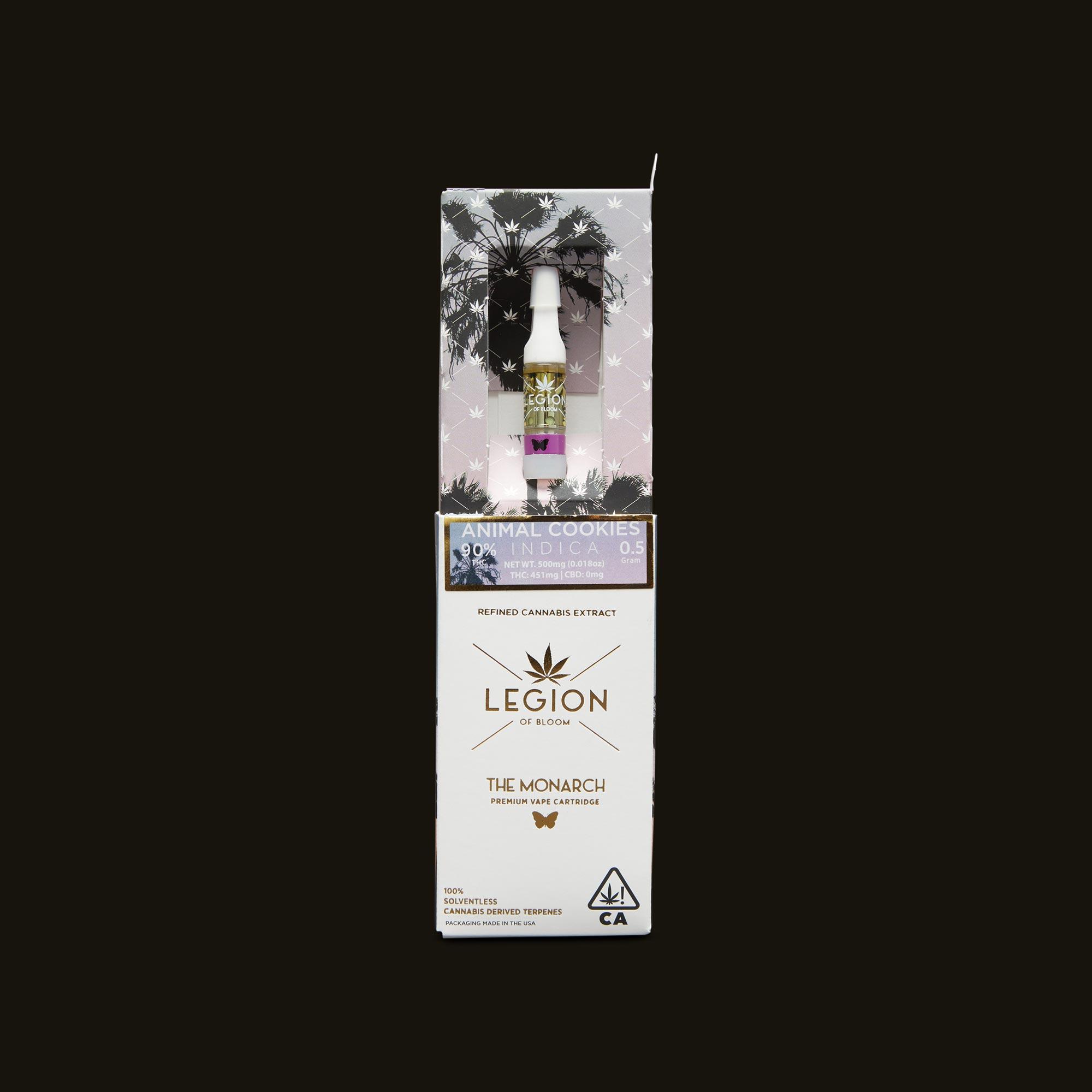 Legion of Bloom Animal Cookies Monarch .5g Open Packaging