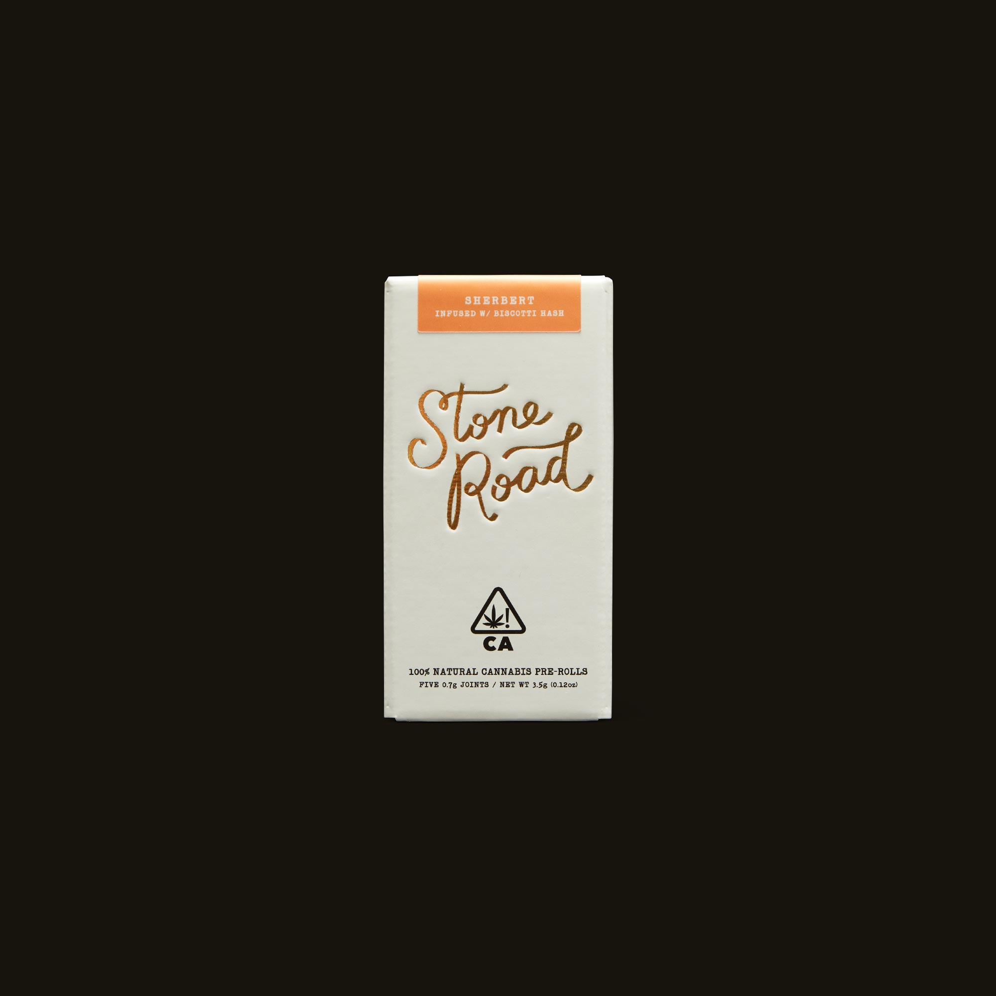 Stone Road Sherbert Infused Pre-Roll Pack Front Box