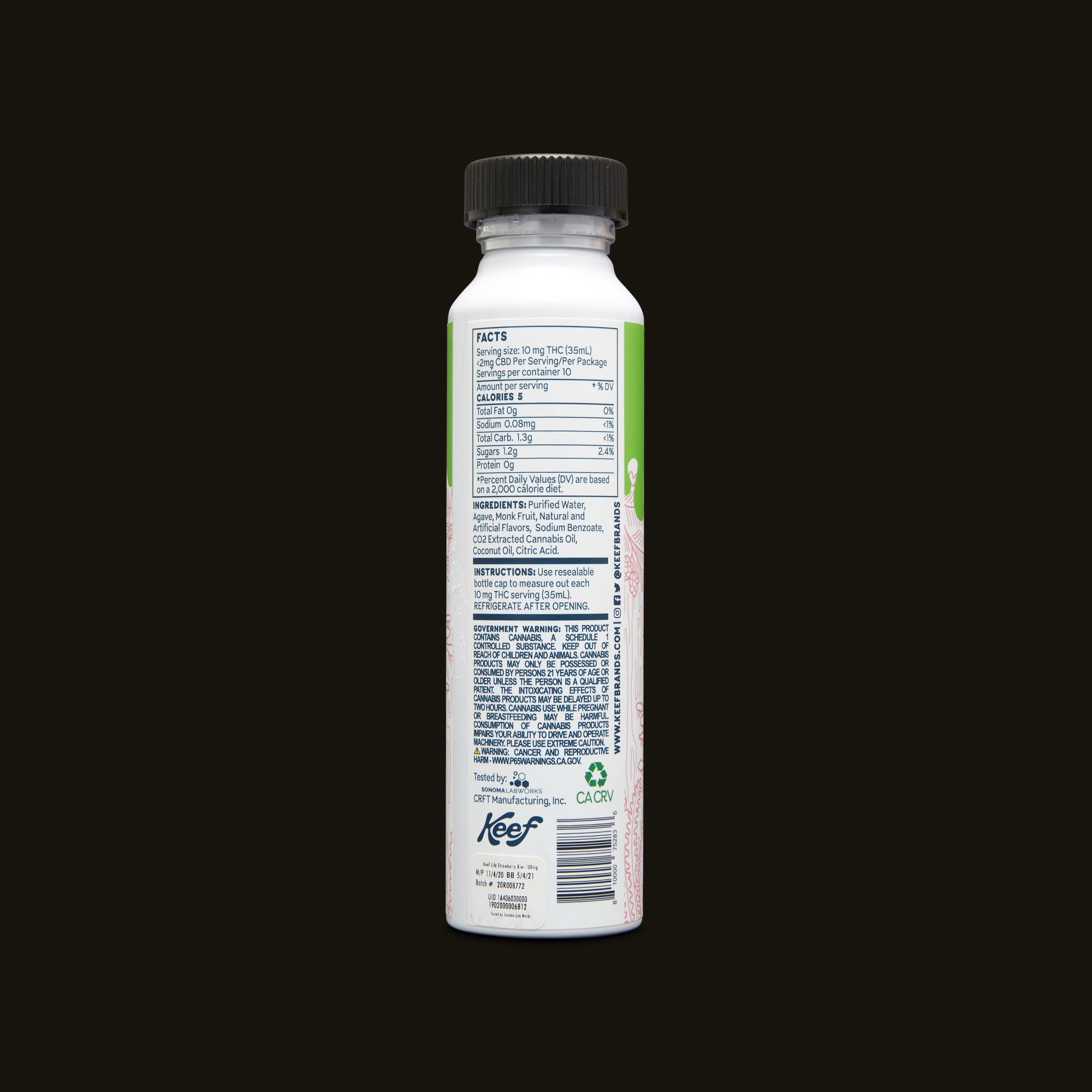 Keef Cola Strawberry Kiwi H20 Ingredients
