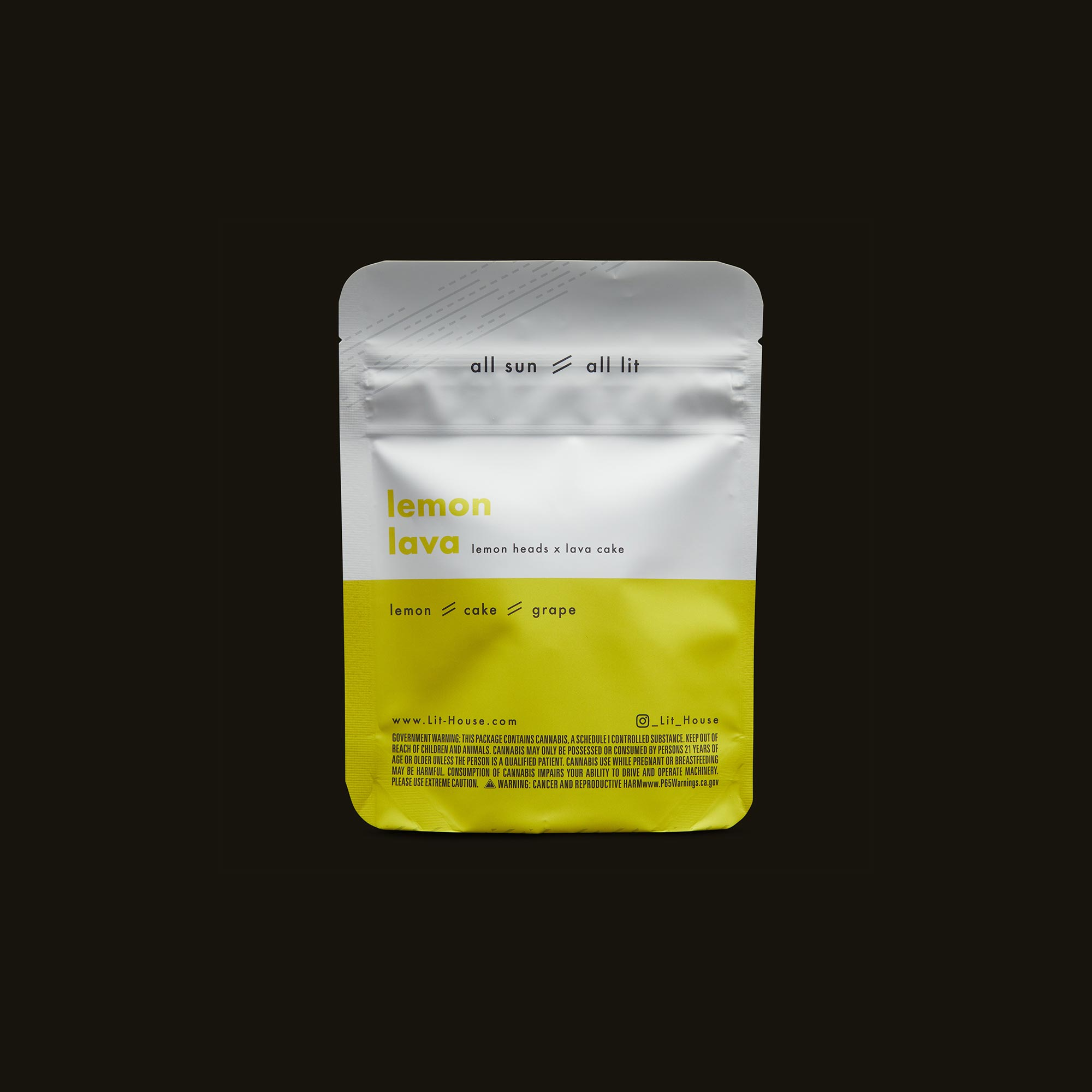 LitHouse All Sun - Lemon Lava Back Packaging