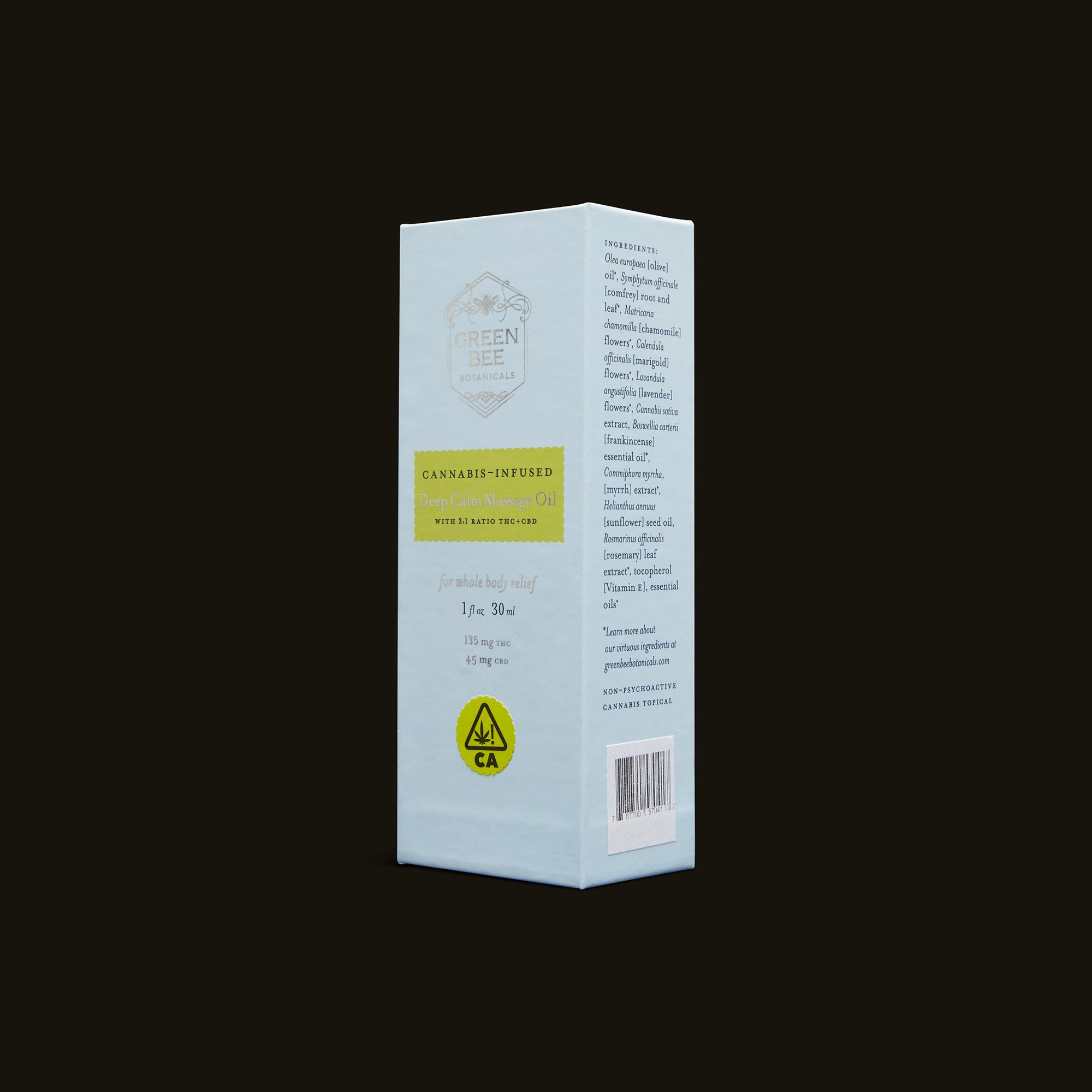 Green Bee Botanicals Deep Calm Massage and Body Oil Ingredients