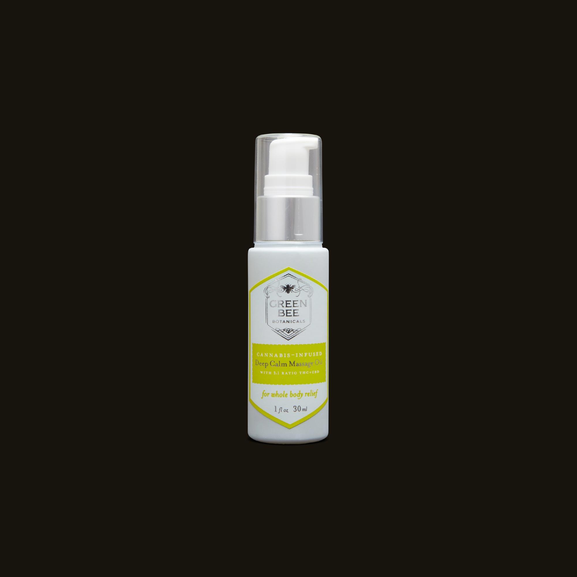 Green Bee Botanicals Deep Calm Massage and Body Oil Pump