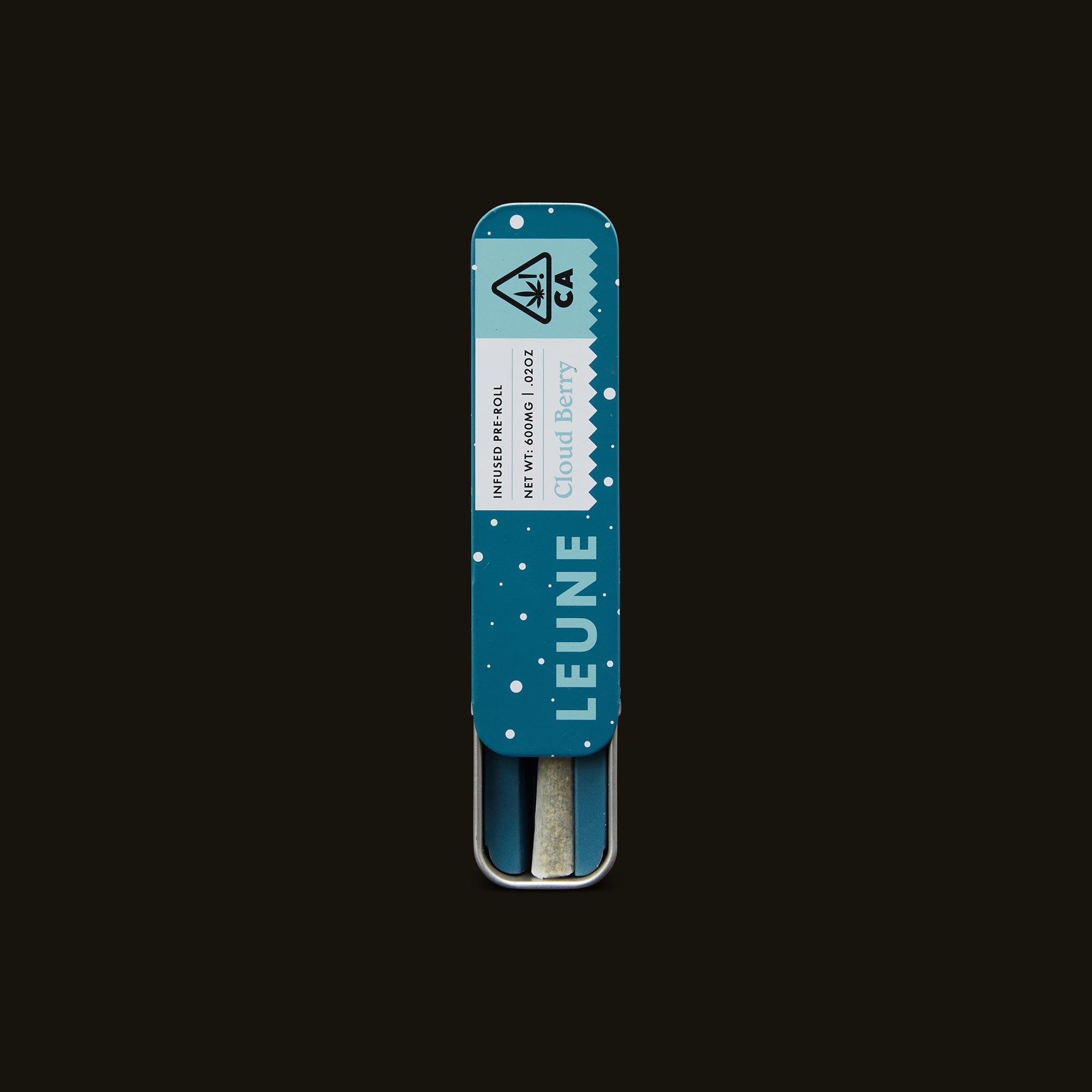 LEUNE Cloud Berry Pre-Roll Open Packaging