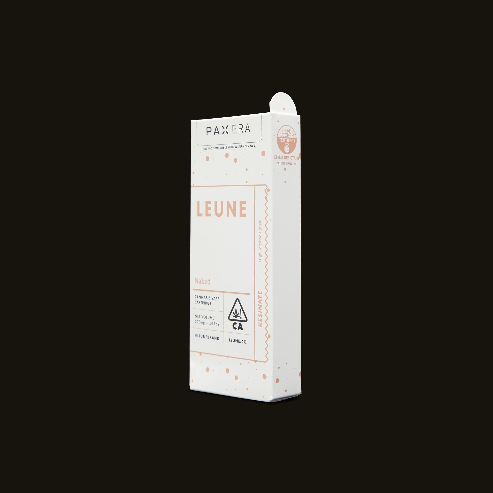 LEUNE Naked Tangie Live Resin PAX Era Pod Side Packaging