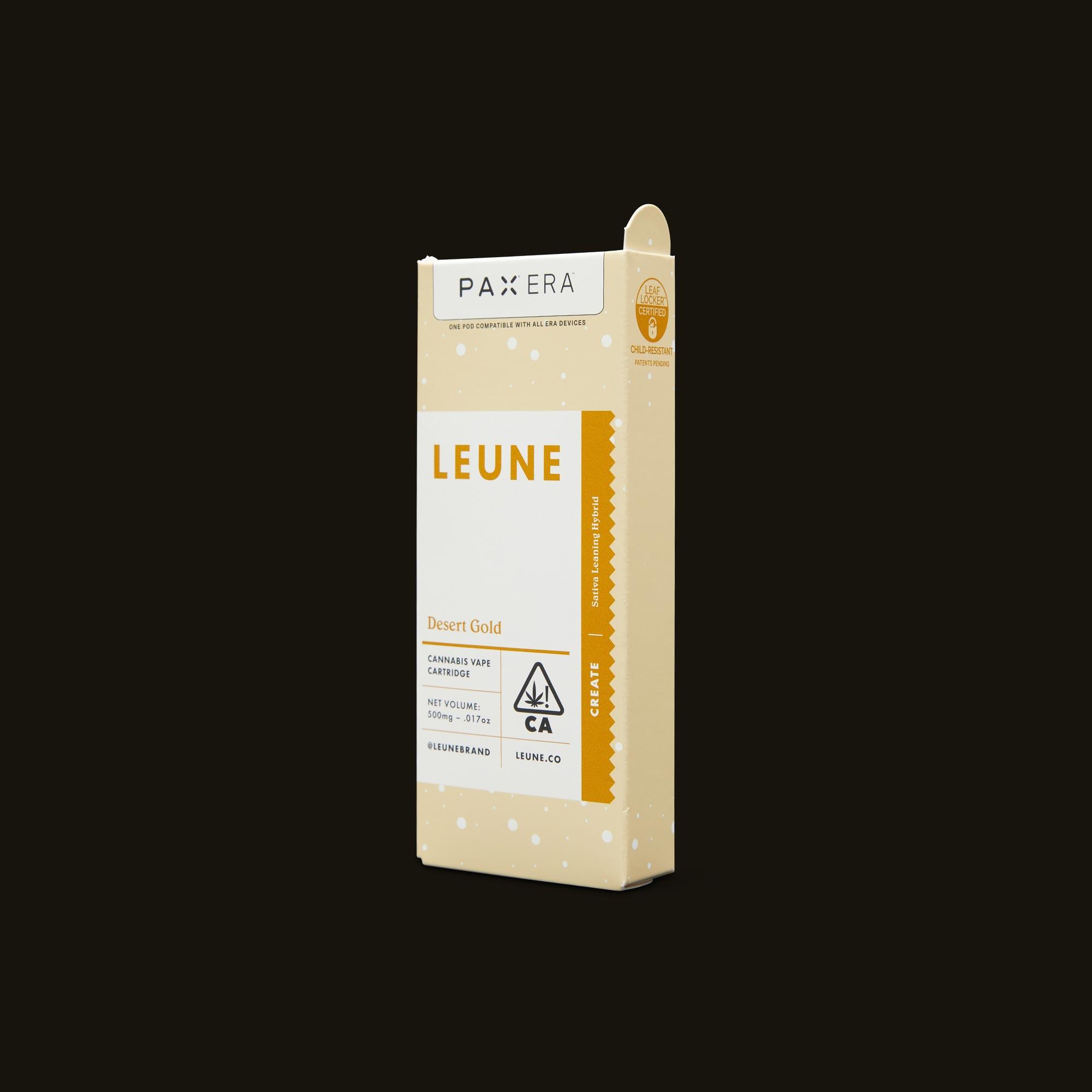 LEUNE Desert Gold PAX Era Pod Side Packaging