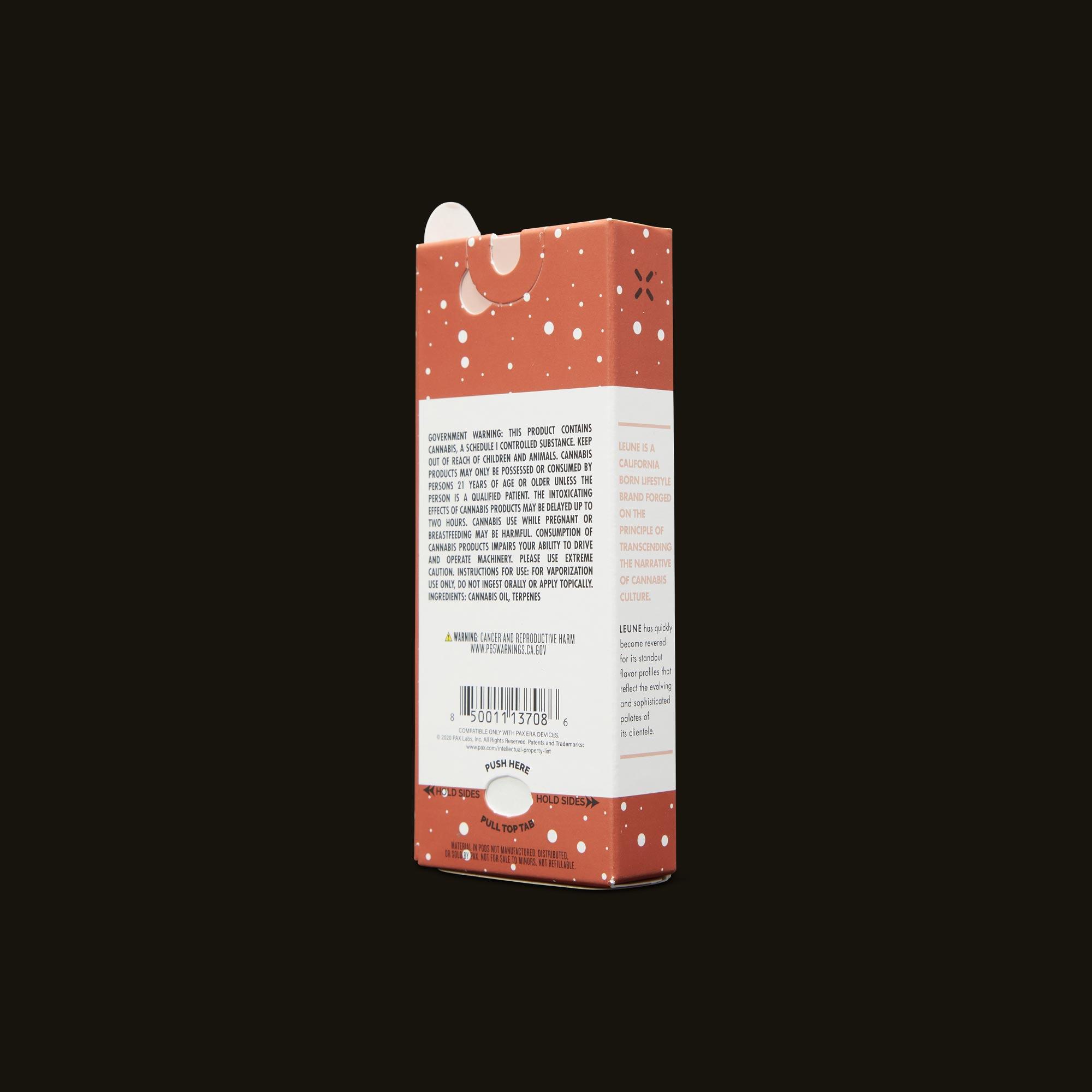 LEUNE Sol Berry PAX Era Pod Back Packaging