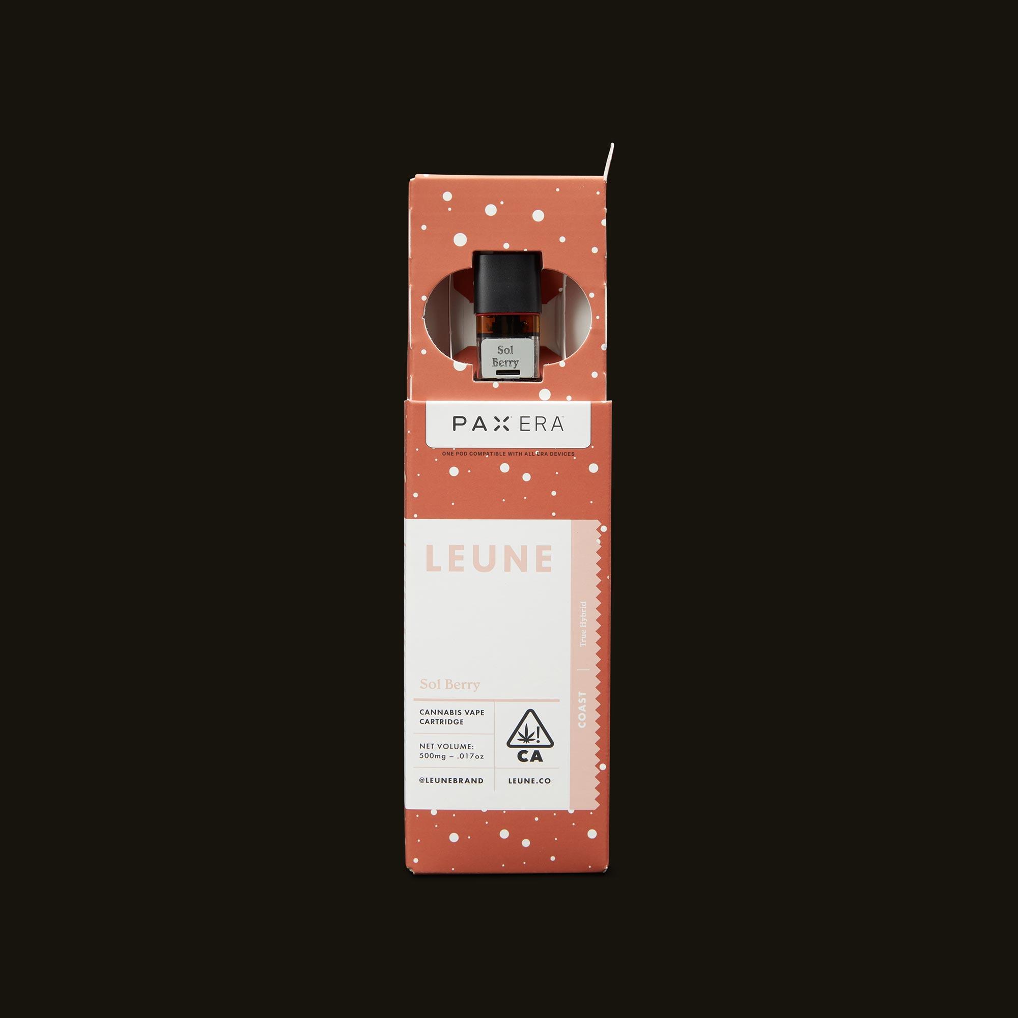 LEUNE Sol Berry PAX Era Pod Open Packaging