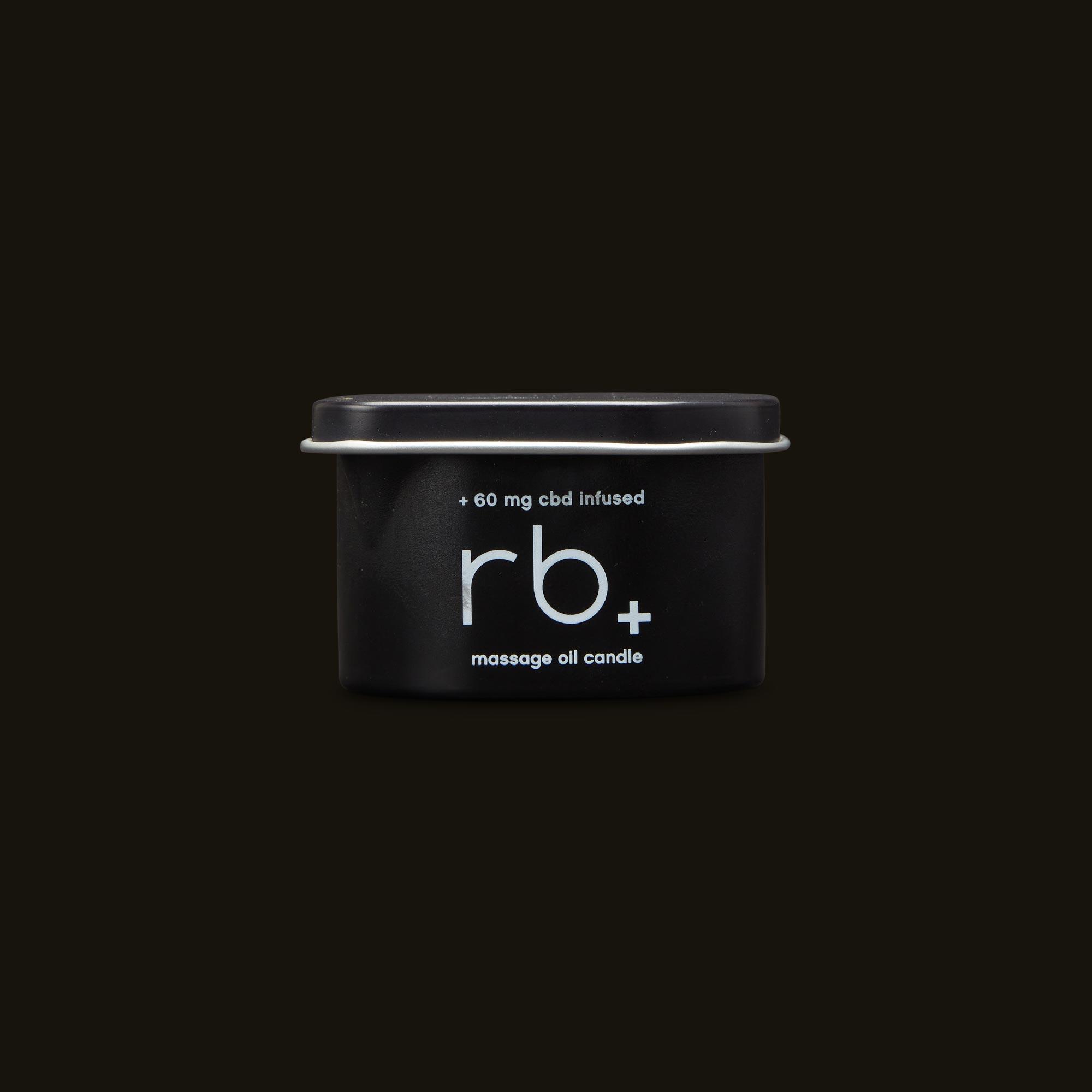 rb+ Eucalyptus Massage Oil Candle - 3oz Front