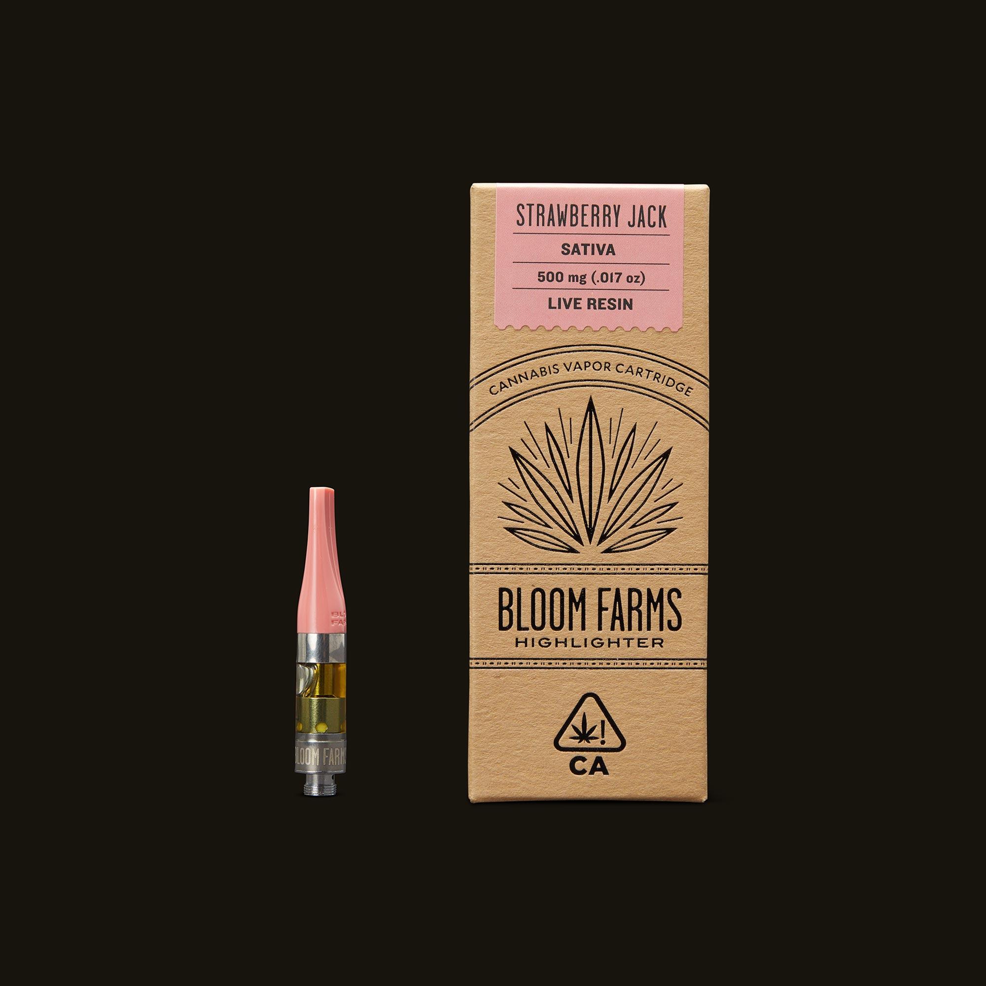 Bloom Farms Strawberry Jack Live Resin Cartridge