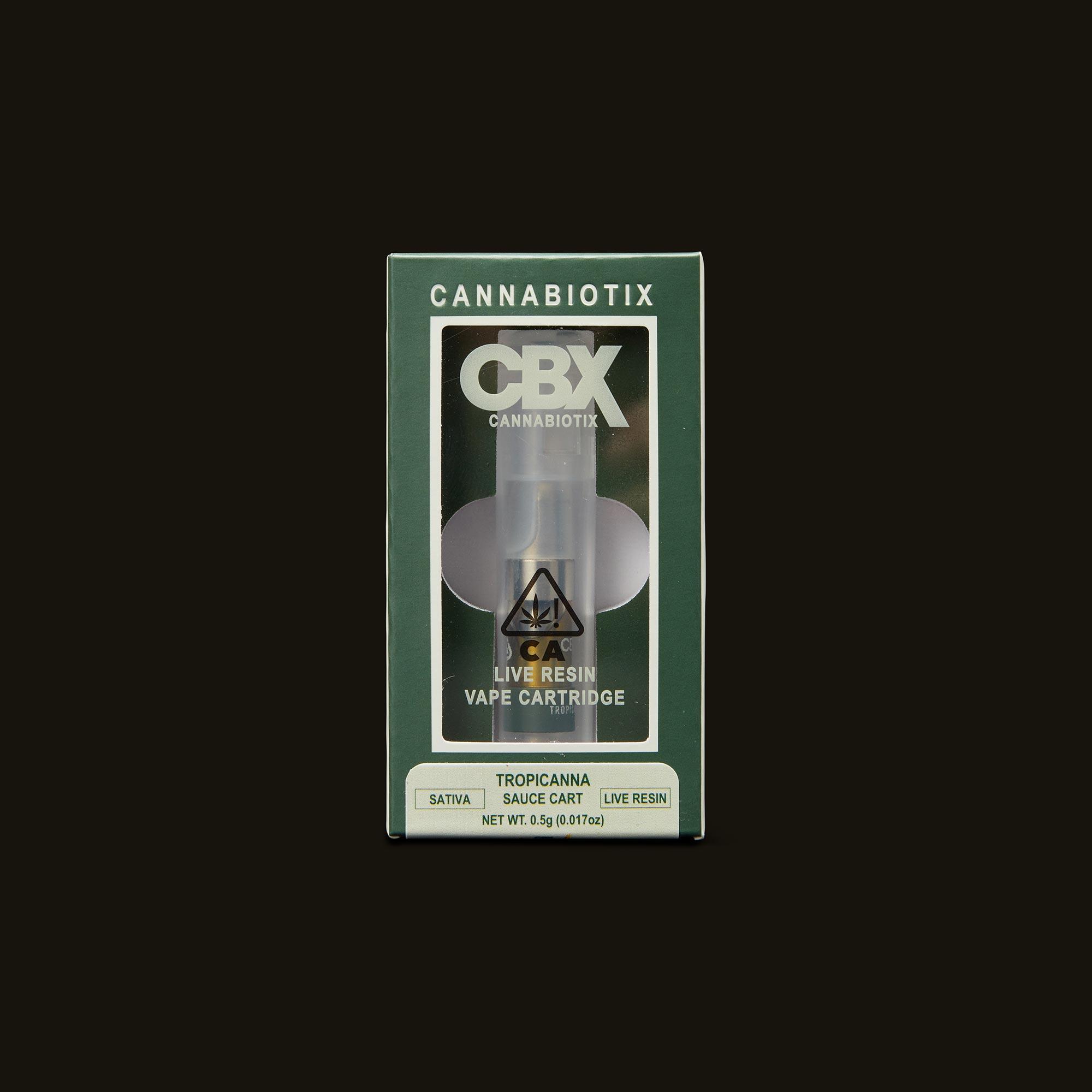 Cannabiotix (CBX) Tropicanna Live Resin Cartridge Front Packaging