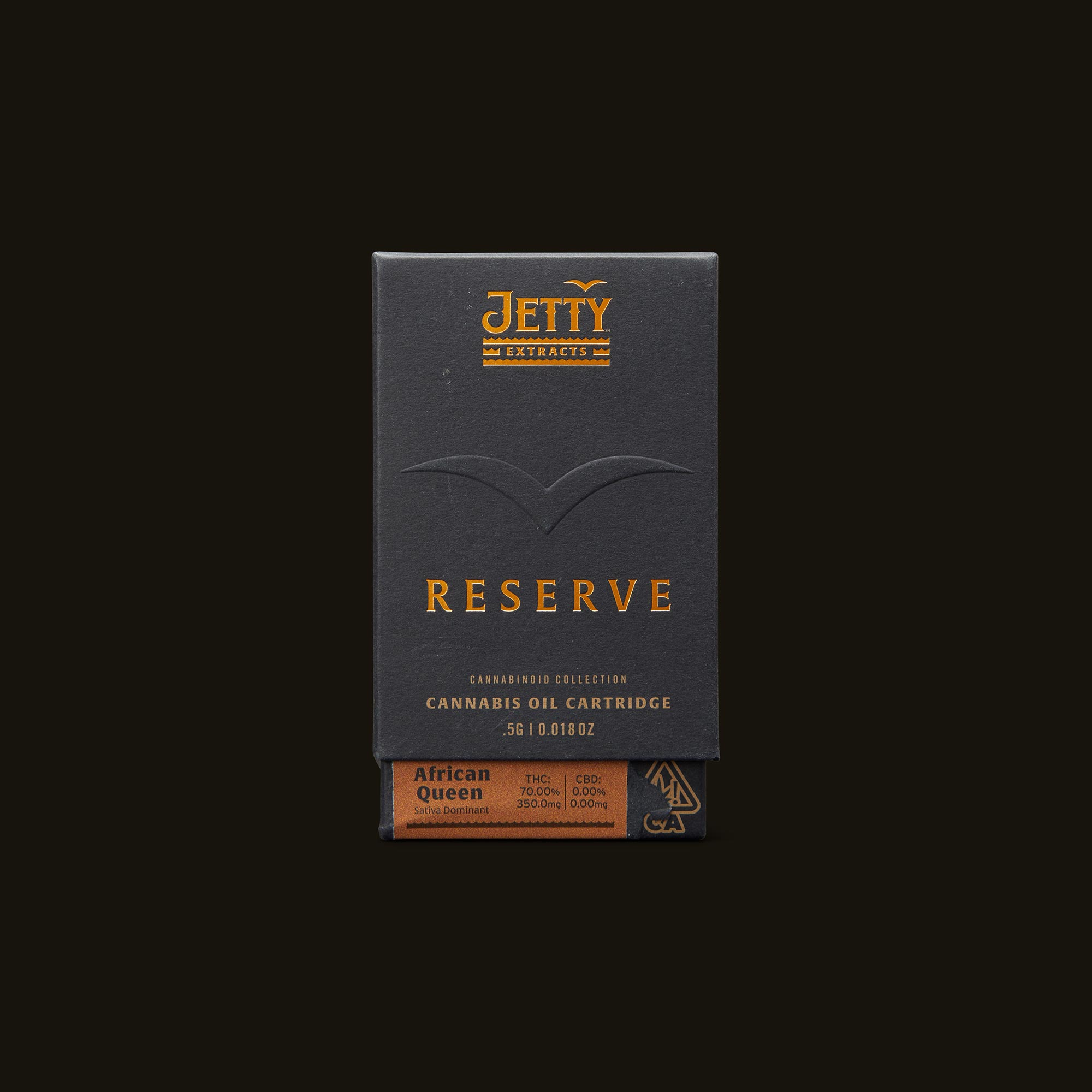 Jetty Extracts Reserve Vape Cartridge - African Queen Front Packaging