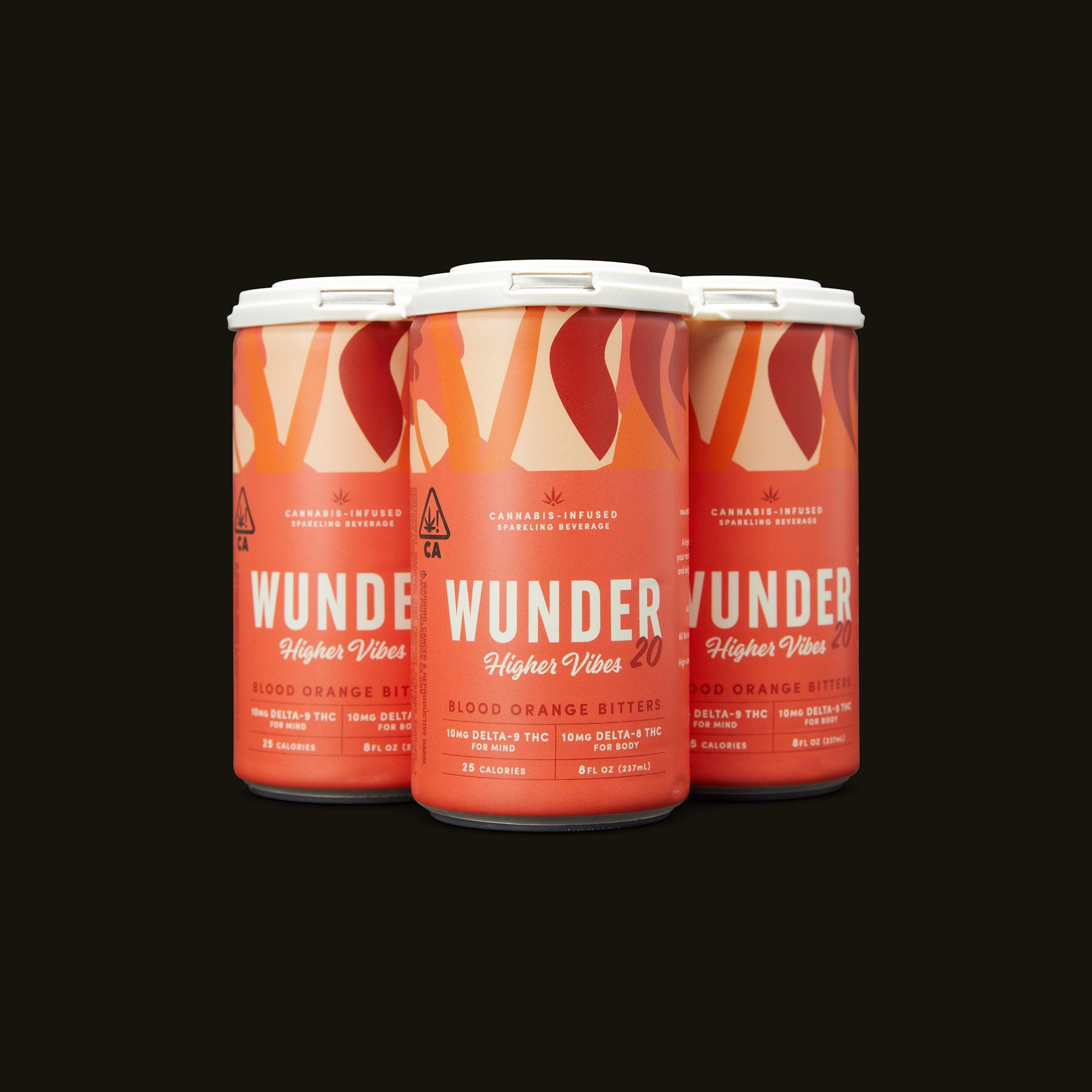 Wunder Higher Vibes Blood Orange Bitters 4-Pack