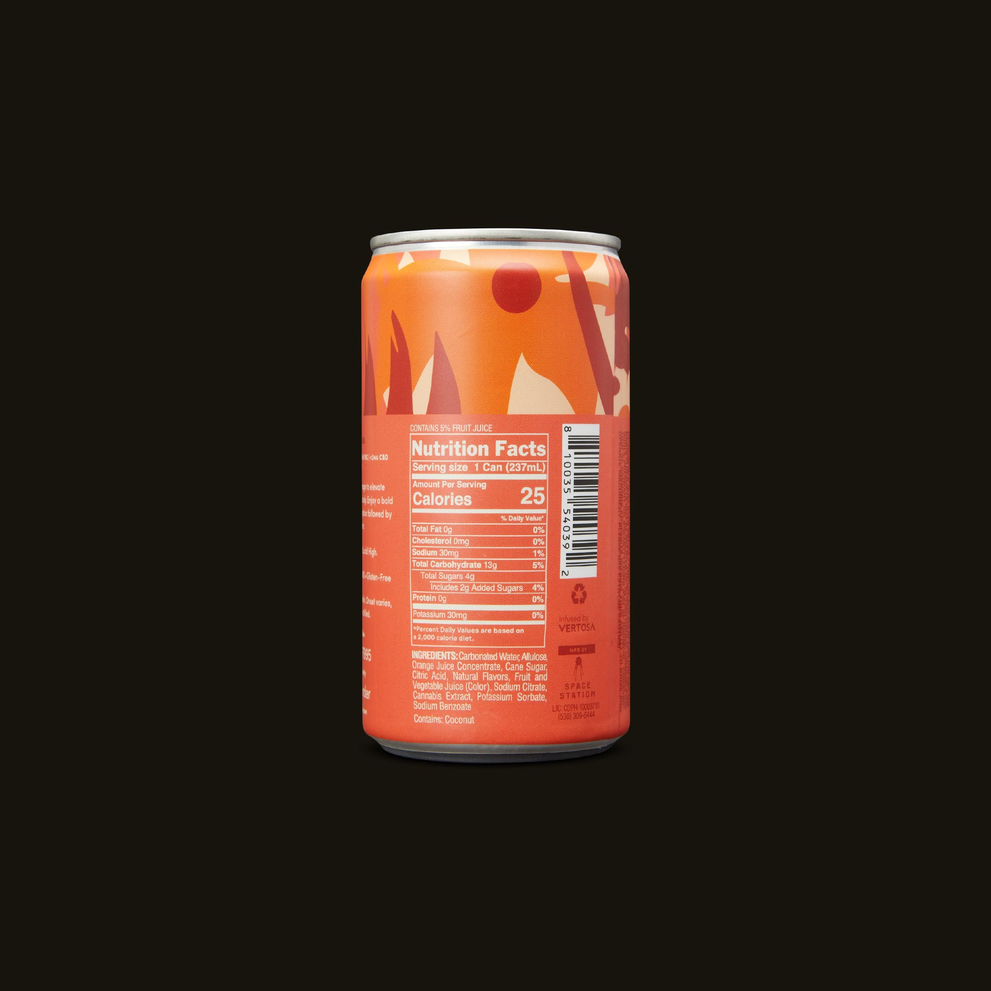 Wunder Higher Vibes Blood Orange Bitters 4-Pack Ingredients