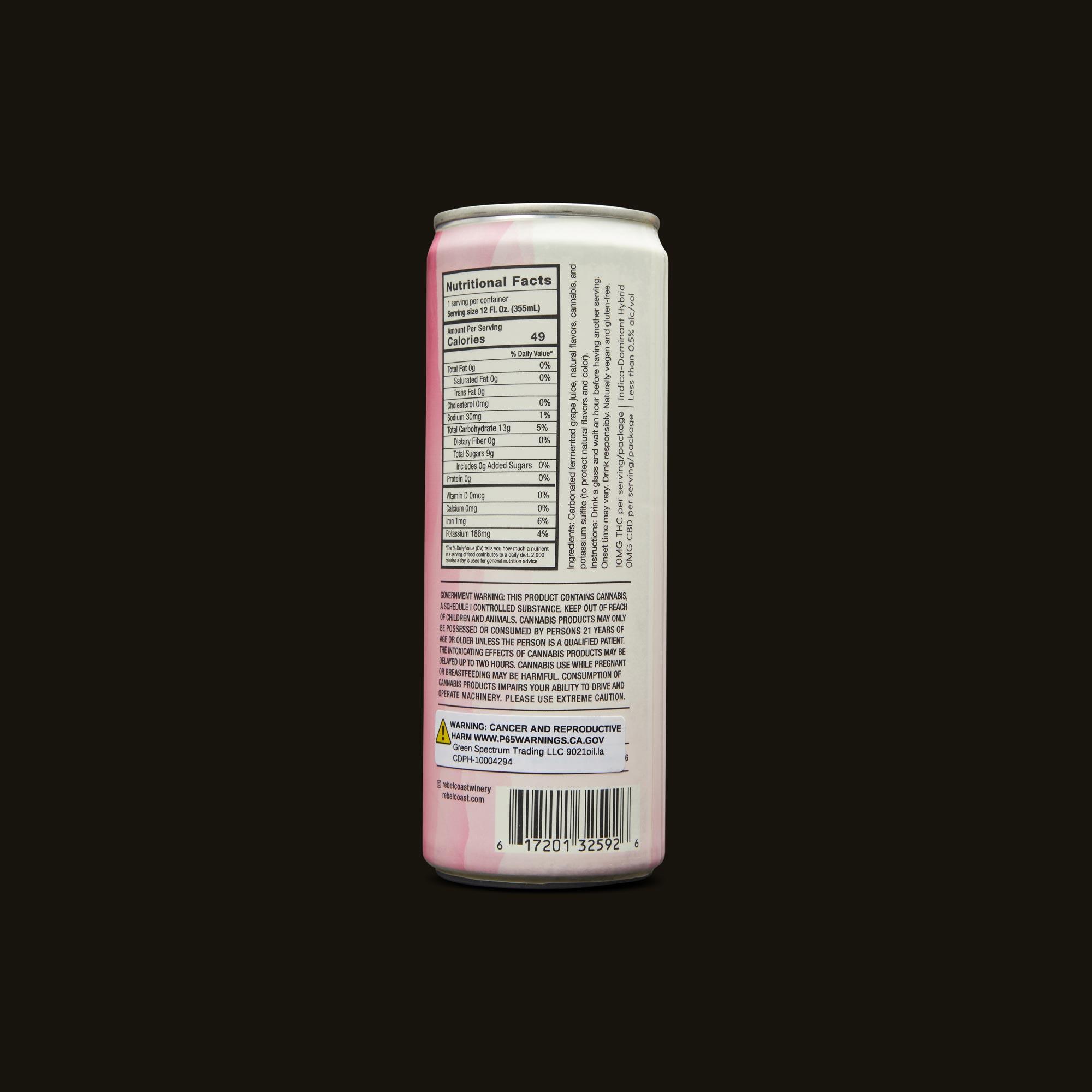 Rebel Coast Sparkling Pink Passion Ingredients