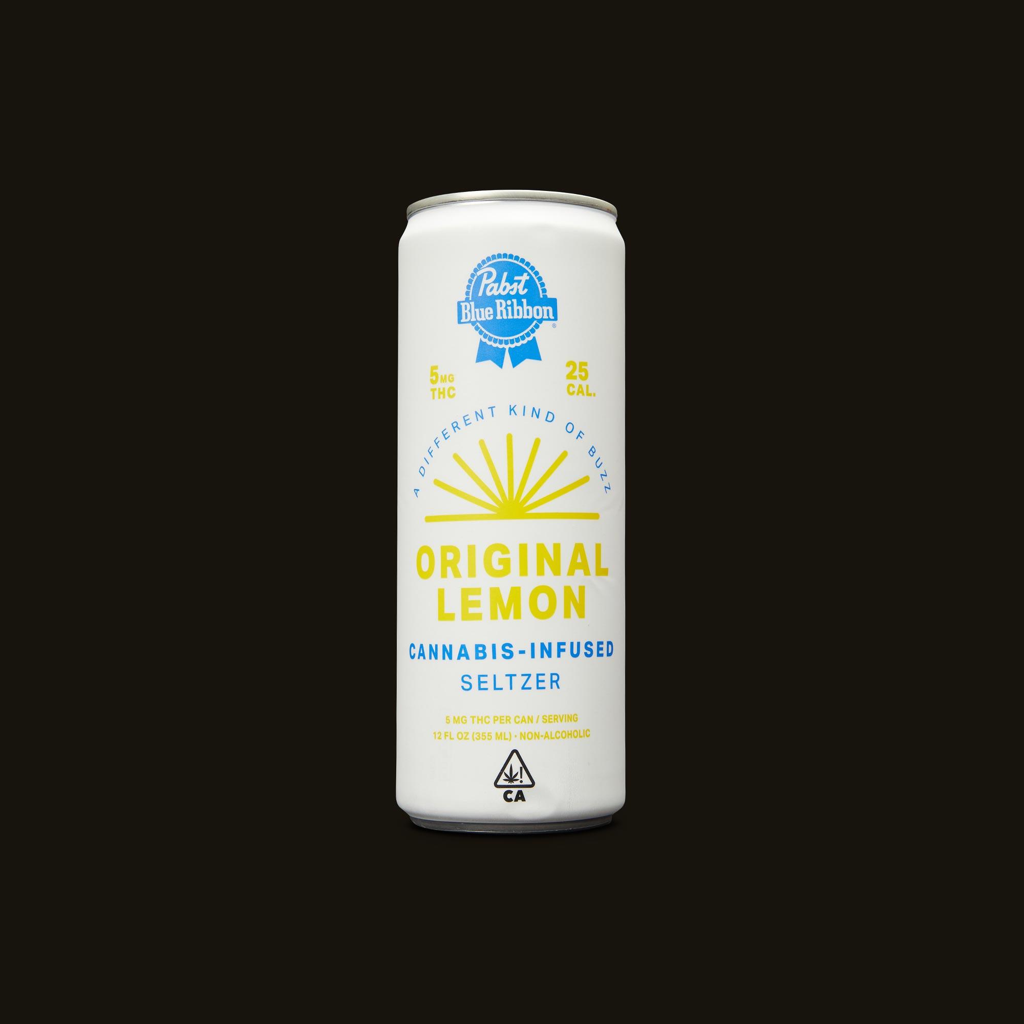 Pabst Blue Ribbon Original Lemon Seltzer Can