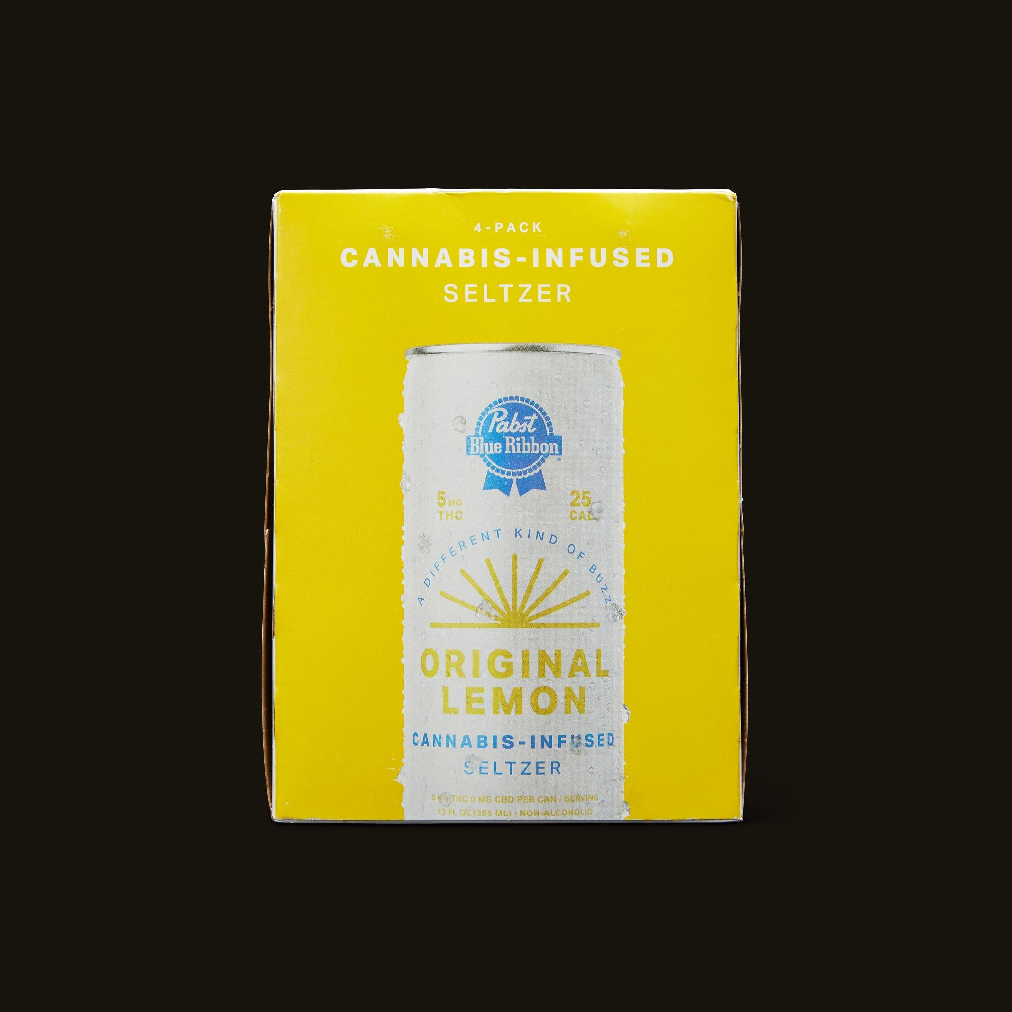 Pabst Blue Ribbon Original Lemon Seltzer