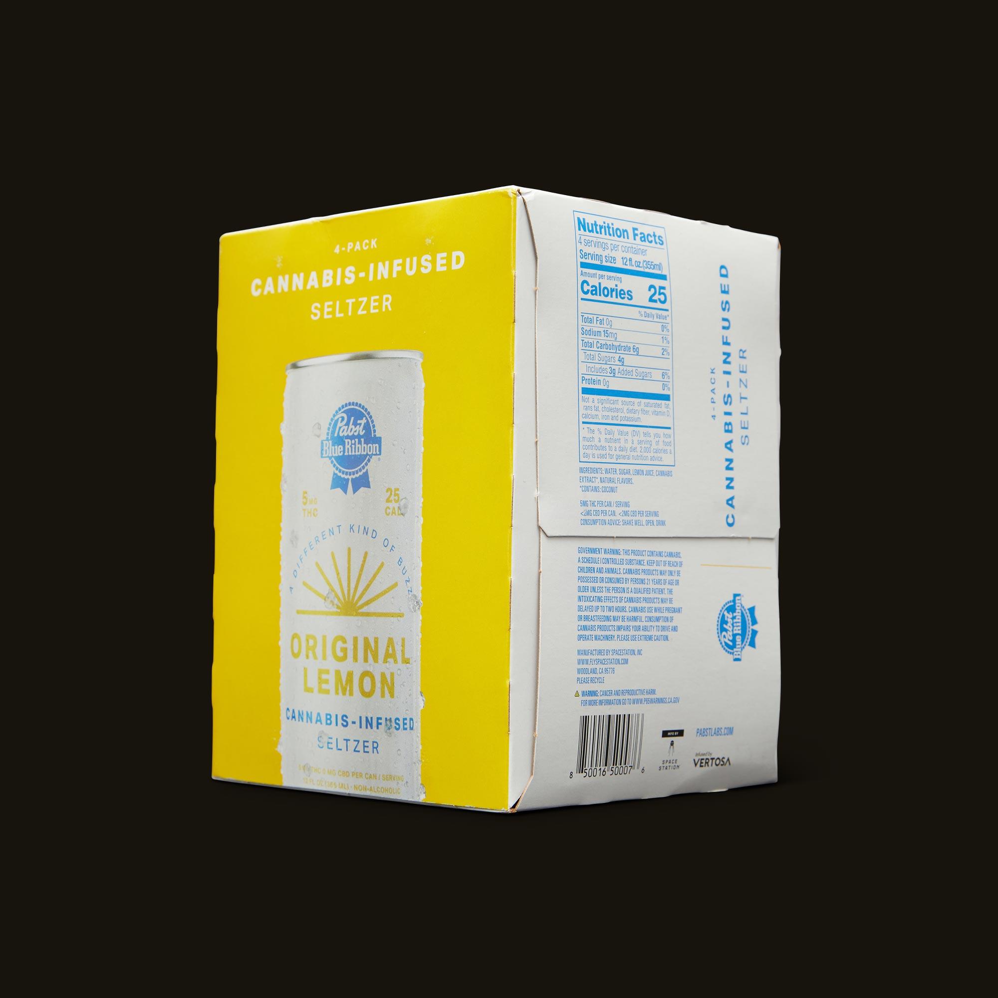 Pabst Blue Ribbon Original Lemon Seltzer Ingredients