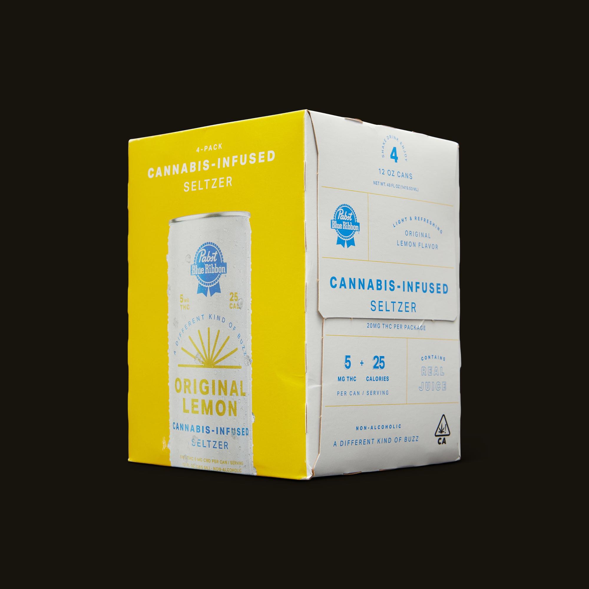 Pabst Blue Ribbon Original Lemon Seltzer Side Packaging