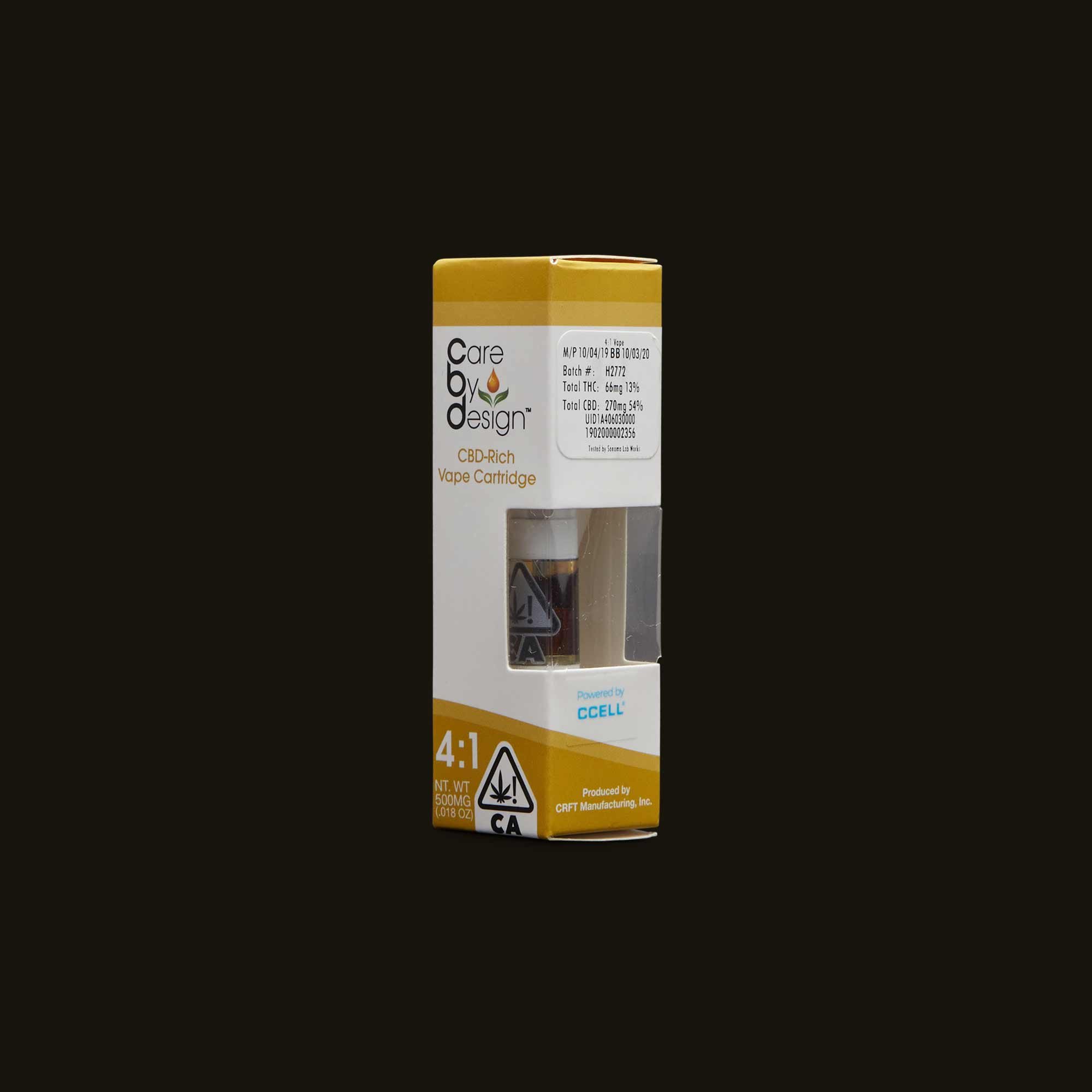 Care By Design Vape Pen - 4:1 Vape Cartridge