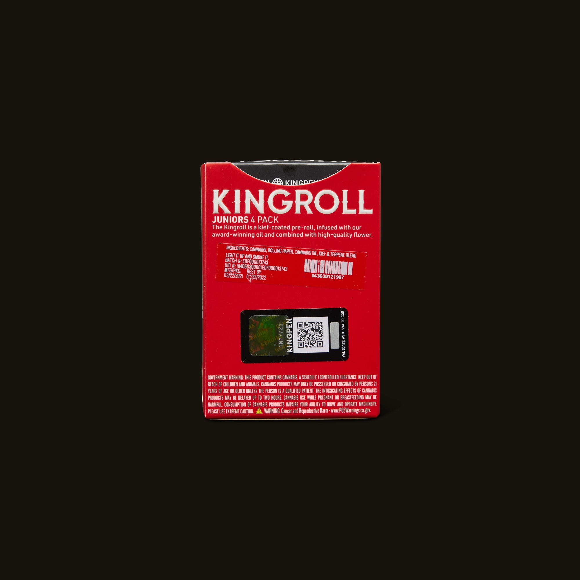 Kingpen Pre-Rolls - Purple Punch x GDP Infused Pre-Roll 4-Pack