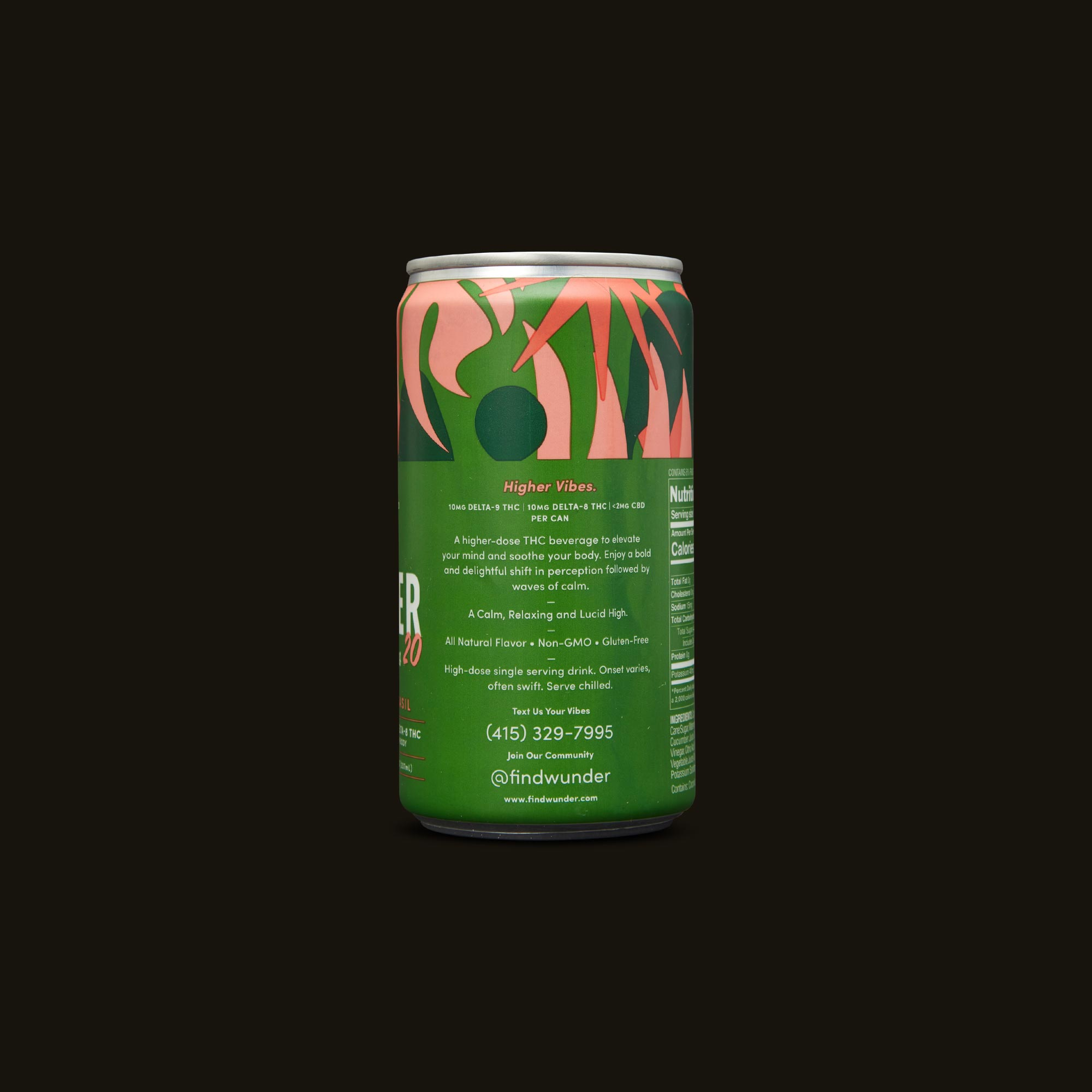 Wunder Beverage - Watermelon Basil Higher Vibes