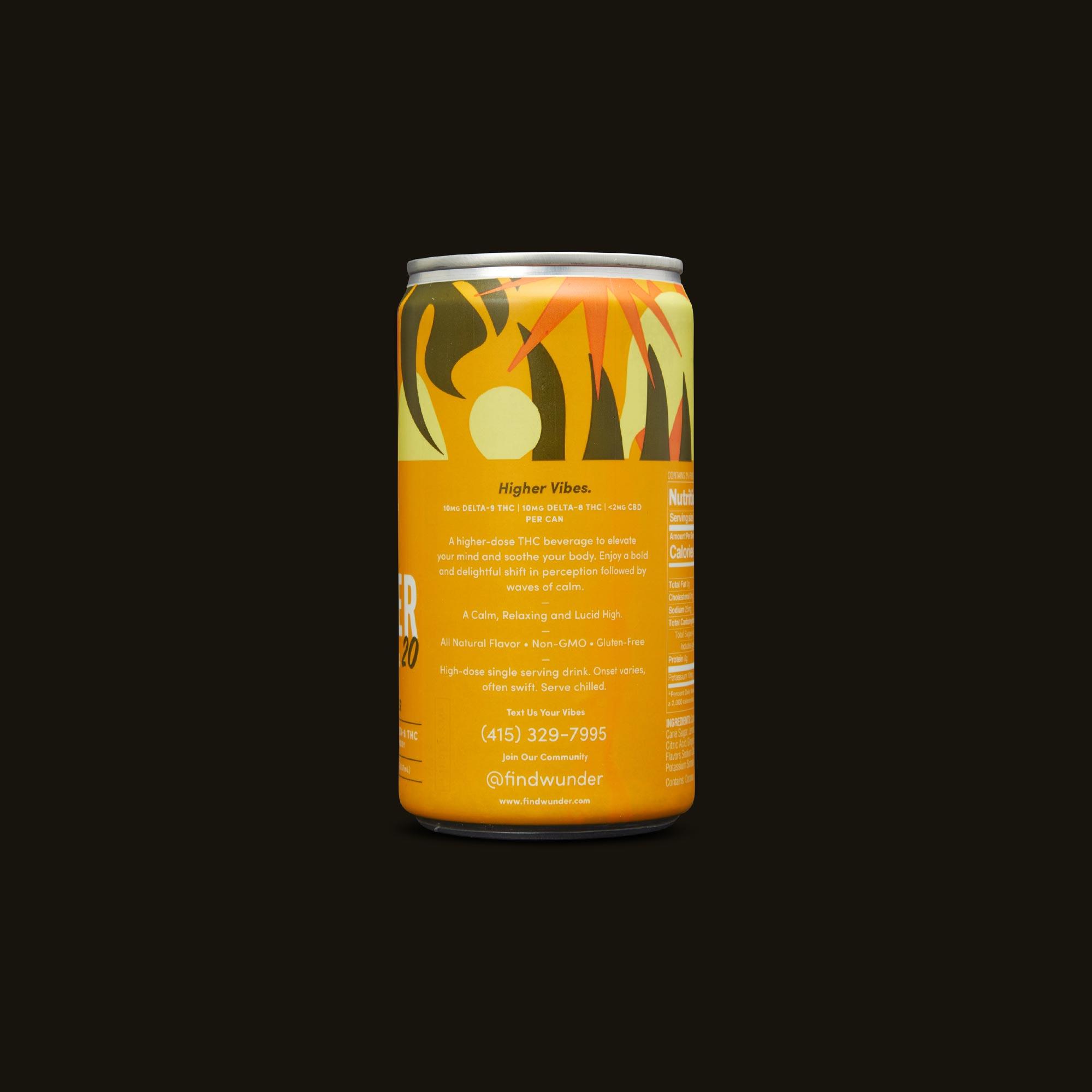 Wunder Beverage - Lemon Ginger Higher Vibes