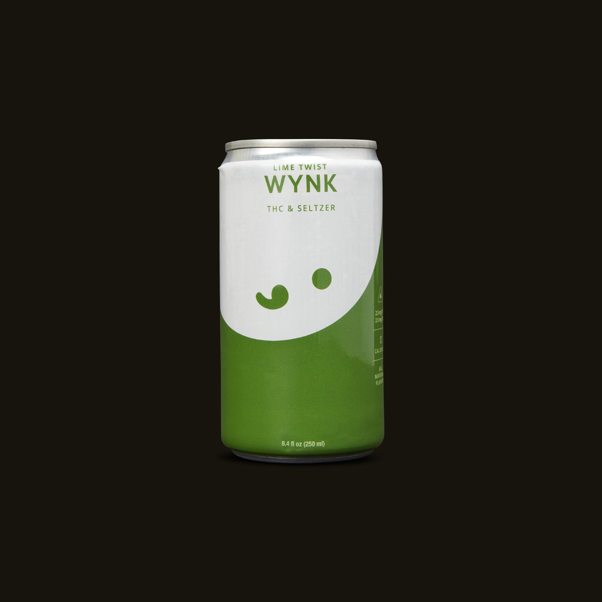Lime Twist Seltzer - One 8.4fl oz can (2.5mg THC, 2.5mg CBD)